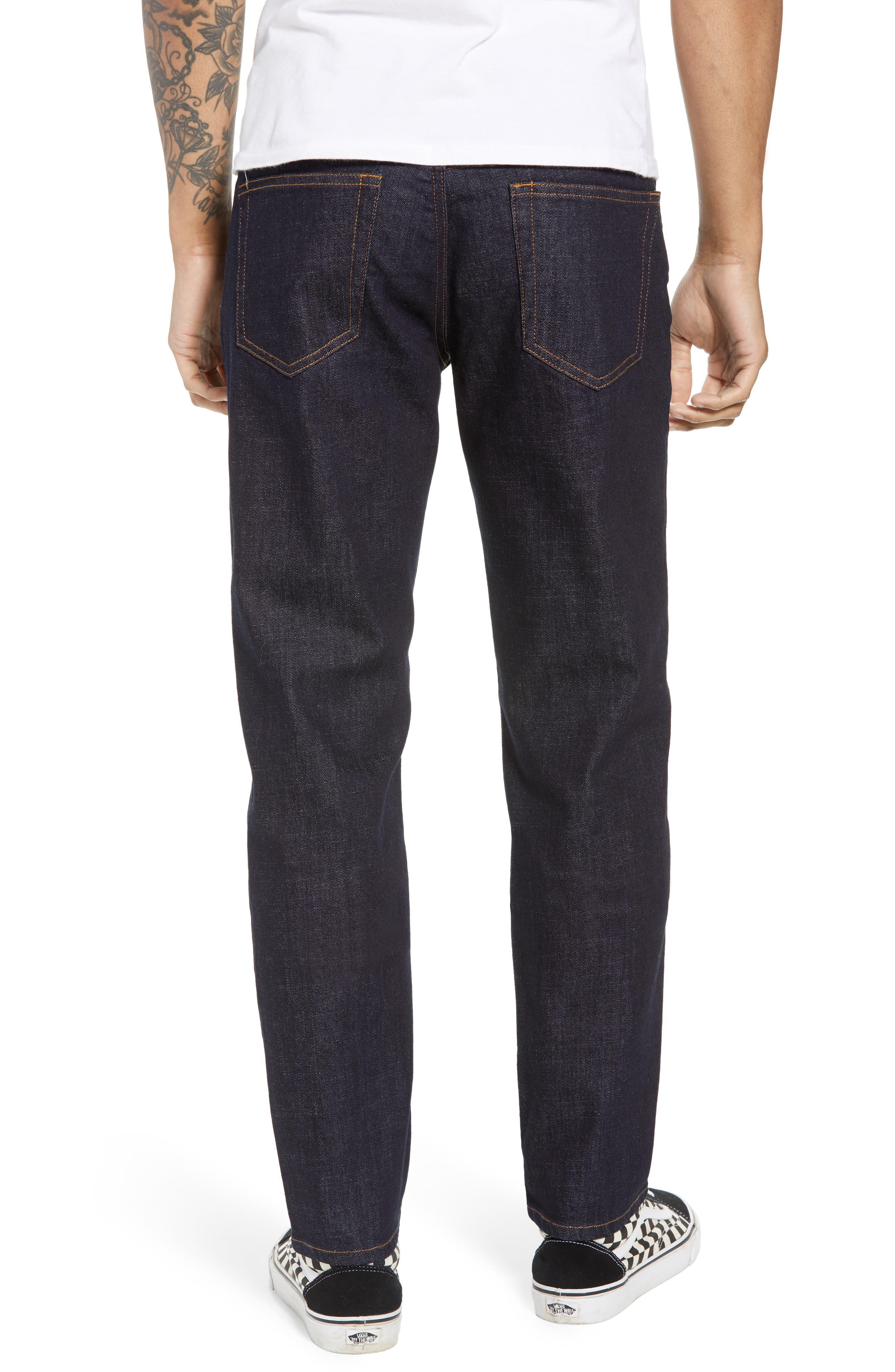 THE RAIL, Stretch Slim Leg Jeans, Alternate thumbnail 2, color, BLUE PERRY WASH