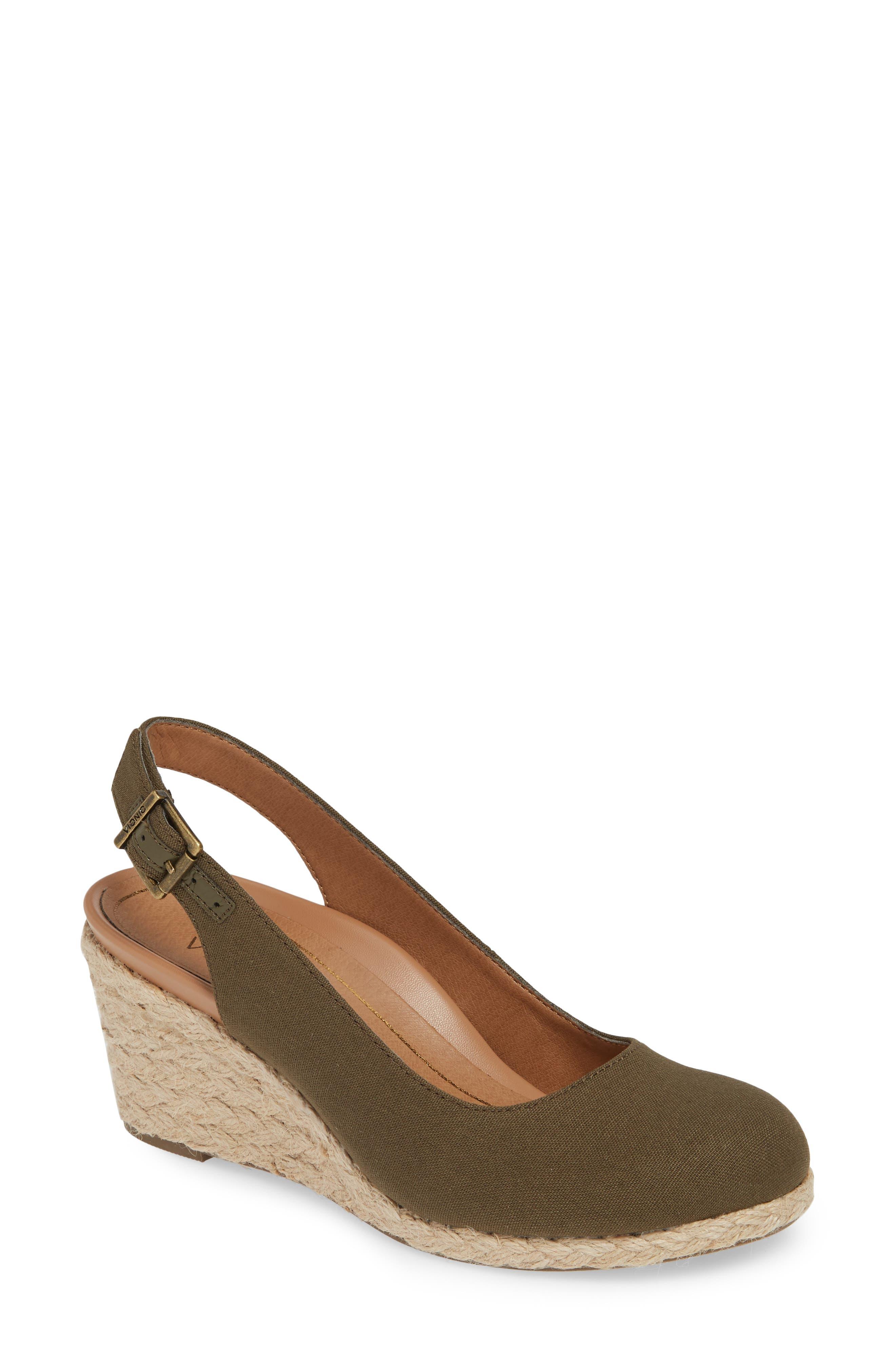 93b032fbd694 Vionic Coralina Orthaheel Espadrille Wedge Slingback Sandal