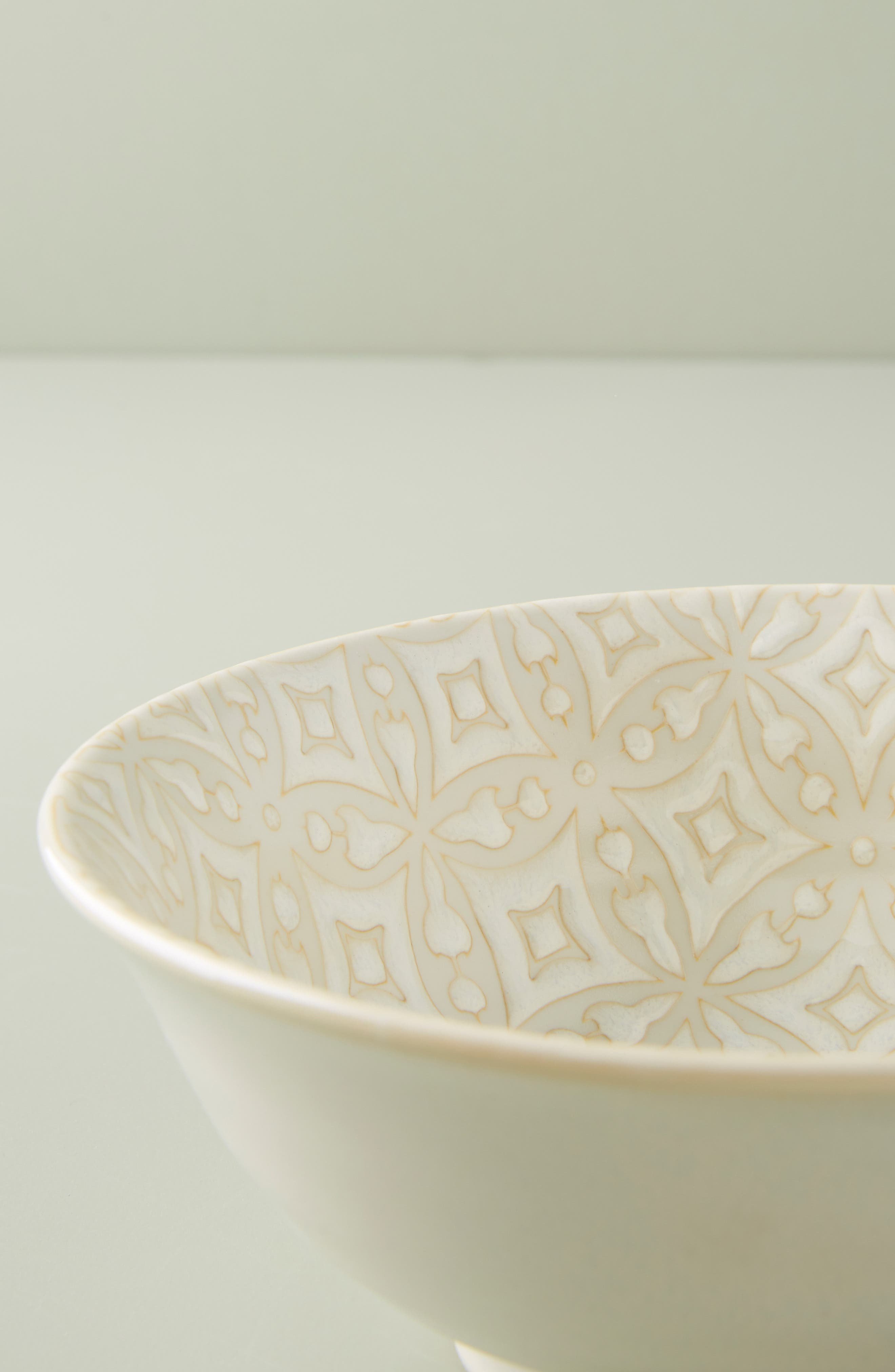 ANTHROPOLOGIE, Morocco Bowl, Alternate thumbnail 3, color, WHITE