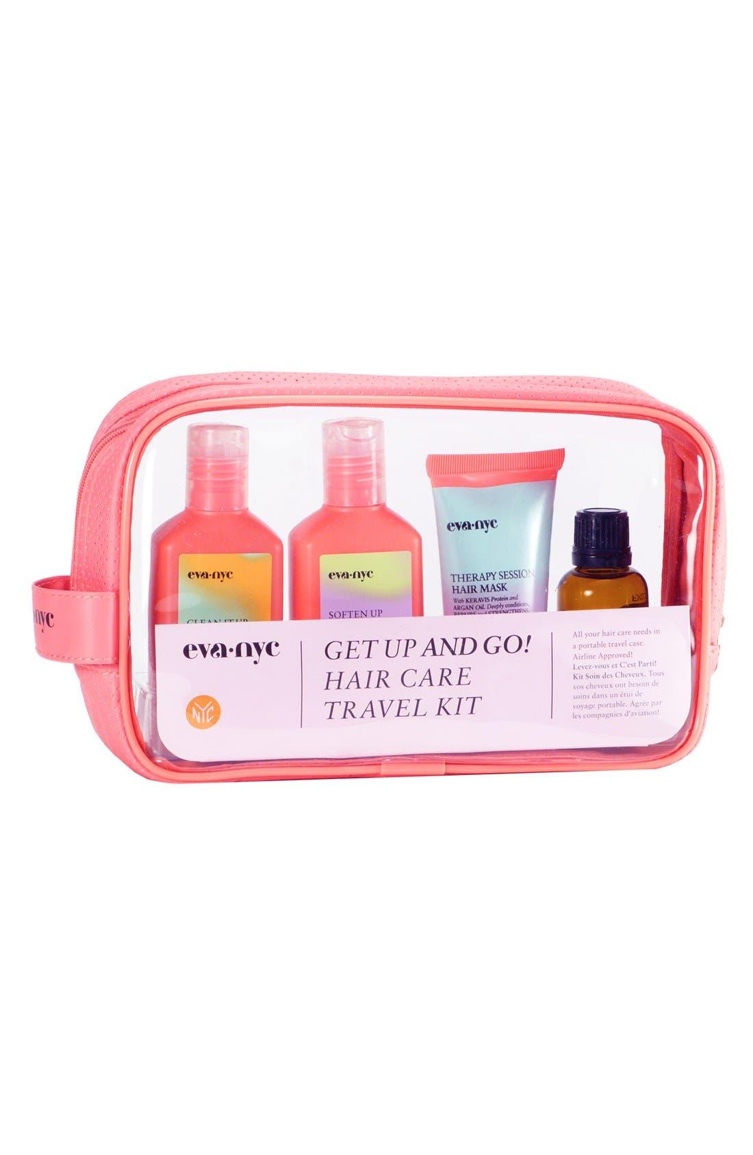 EVA NYC, 'Get Up & Go' Hair Travel Kit, Alternate thumbnail 3, color, 000