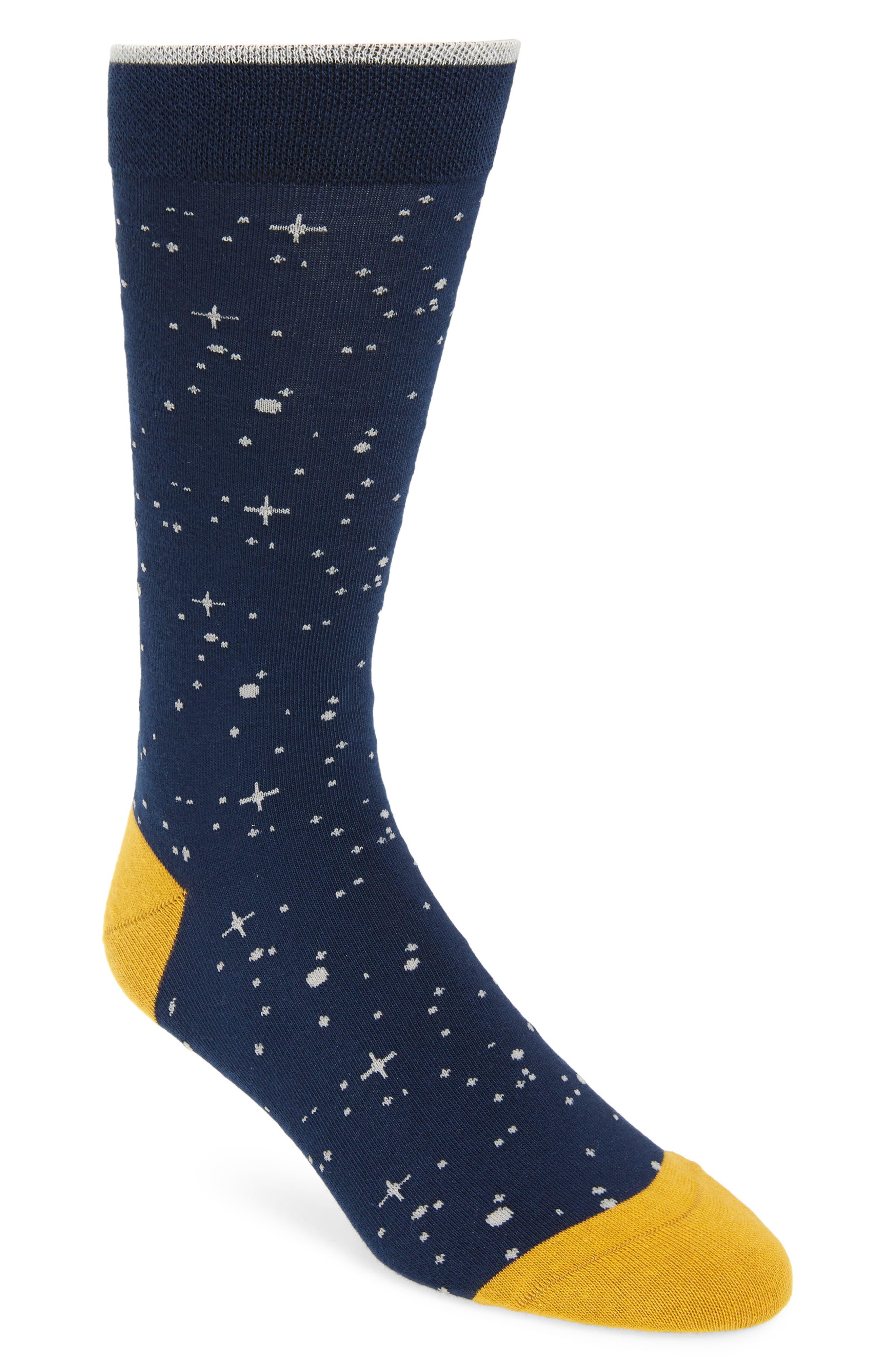 TED BAKER LONDON Starry Night Socks, Main, color, NAVY