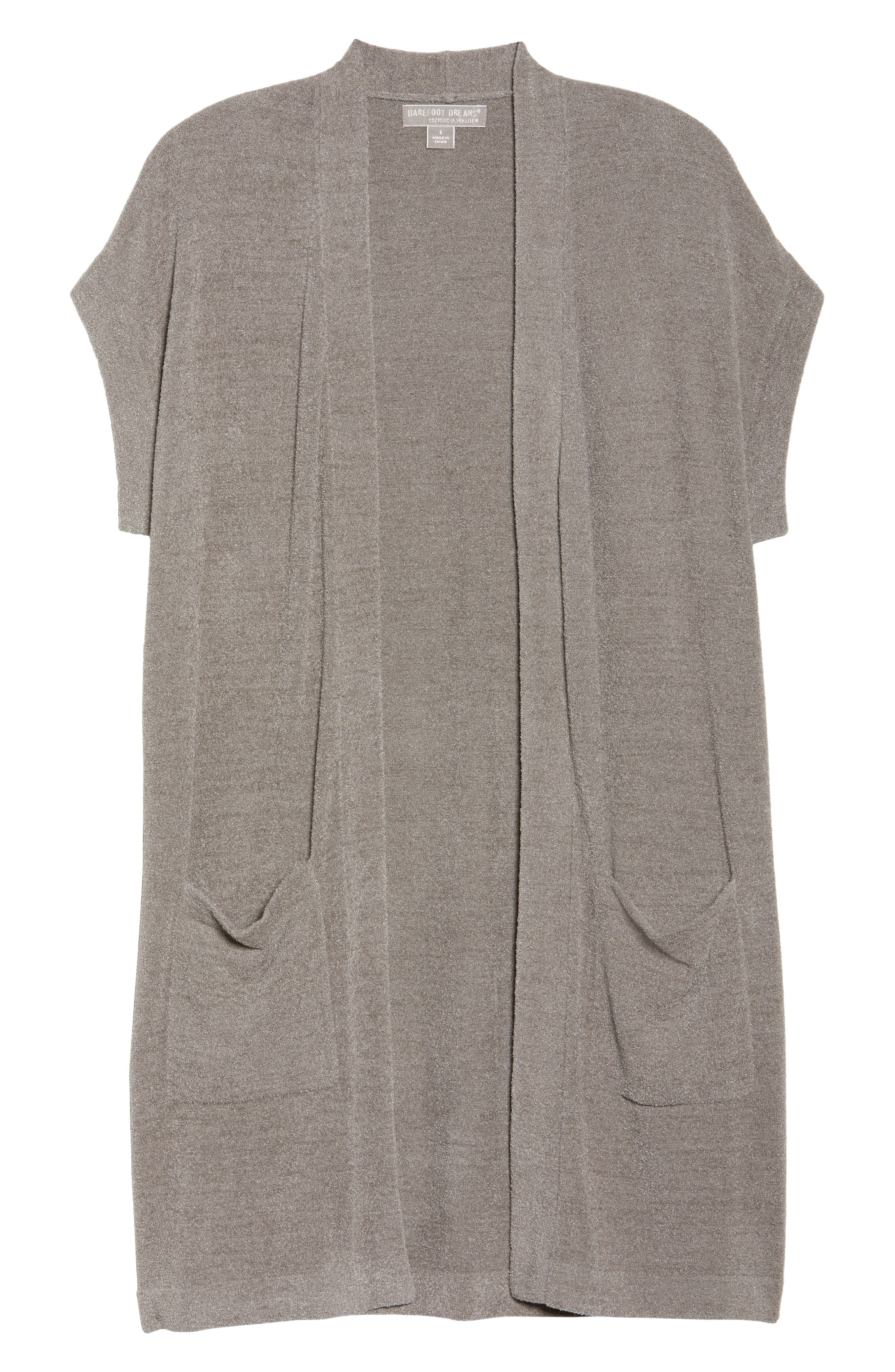 BAREFOOT DREAMS<SUP>®</SUP>, Cozychic Ultra Lite<sup>®</sup> Lounge Cardigan, Alternate thumbnail 6, color, BEACH ROCK