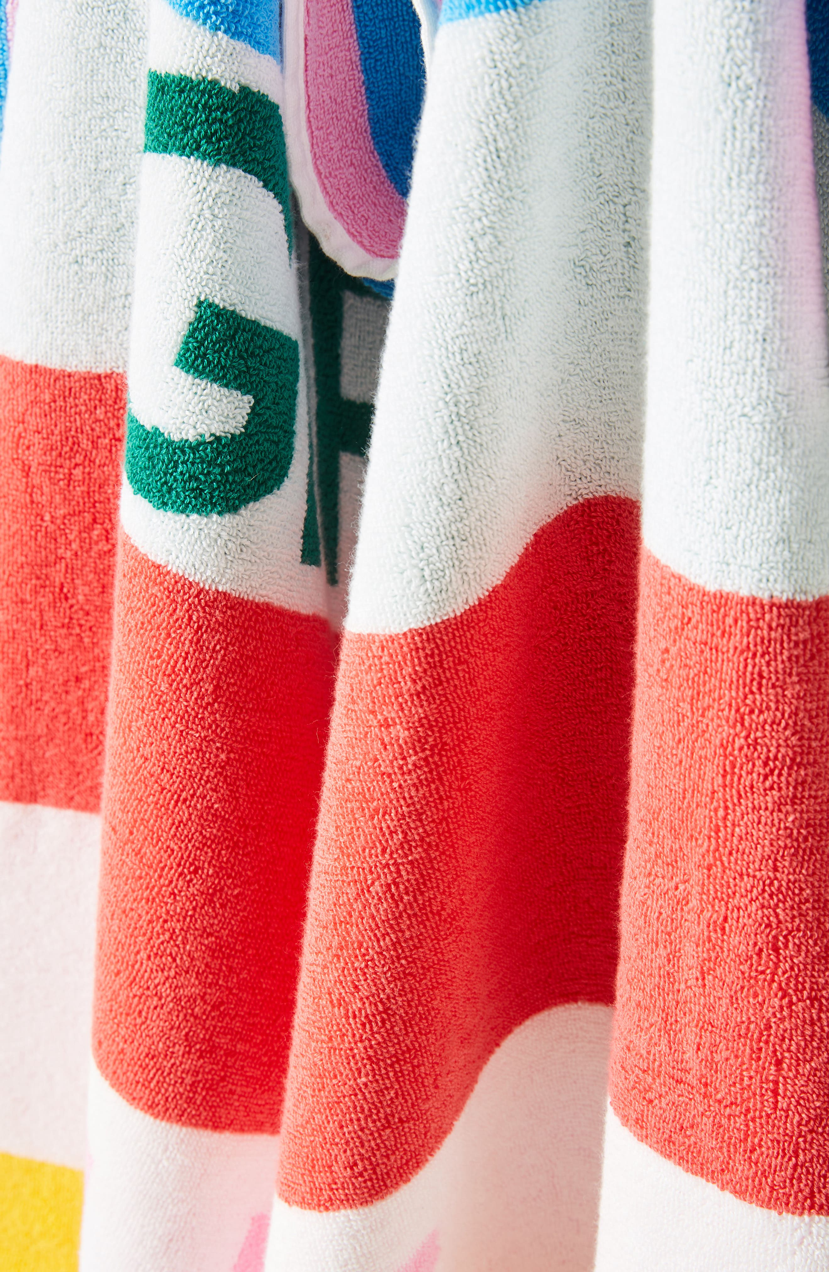 ANTHROPOLOGIE, Girls Wanna Sun Beach Towel, Alternate thumbnail 2, color, 100