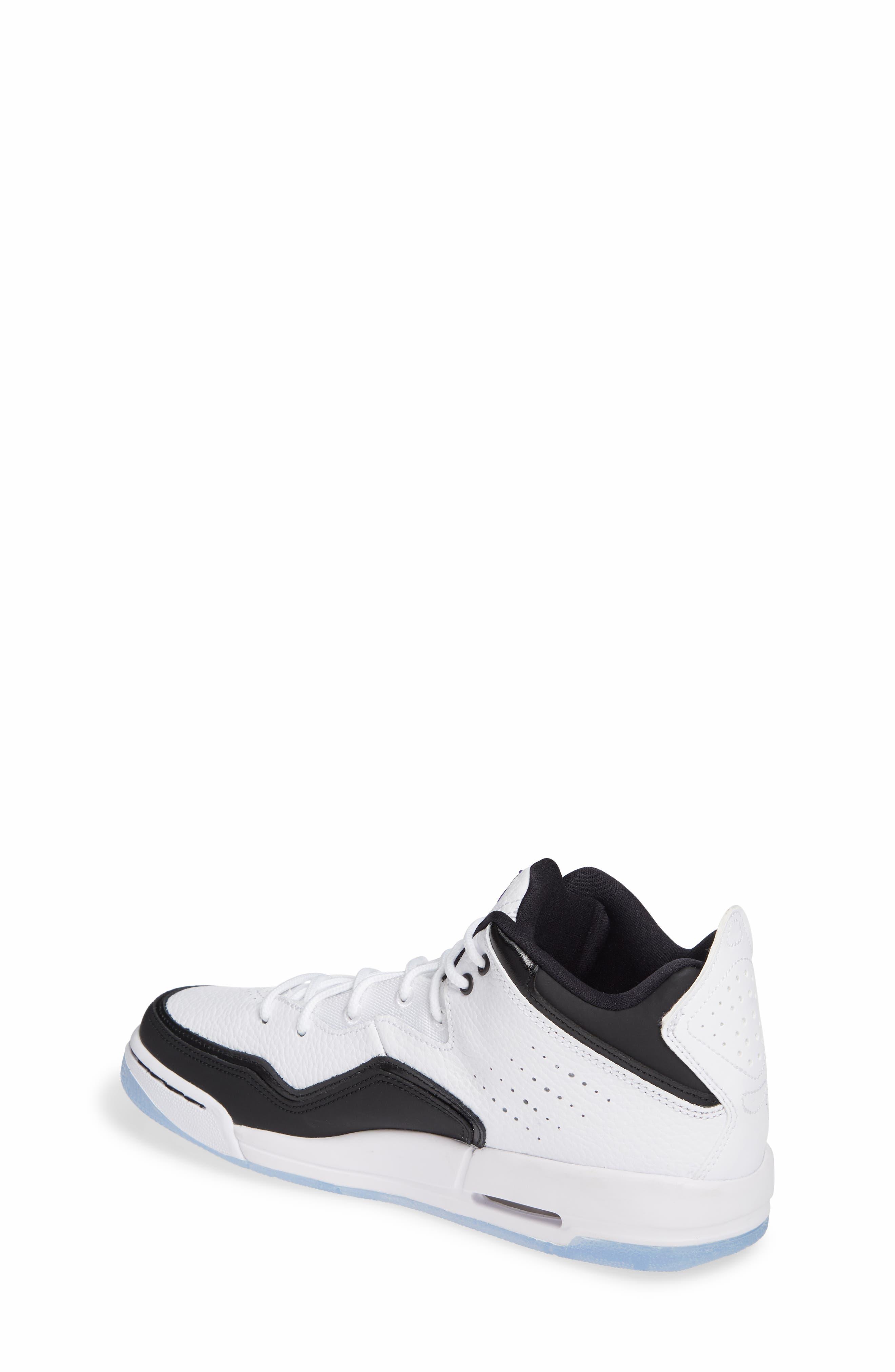 JORDAN, Nike Air Jordan Courtside 23 Sneaker, Alternate thumbnail 2, color, WHITE/ CONCORD BLACK