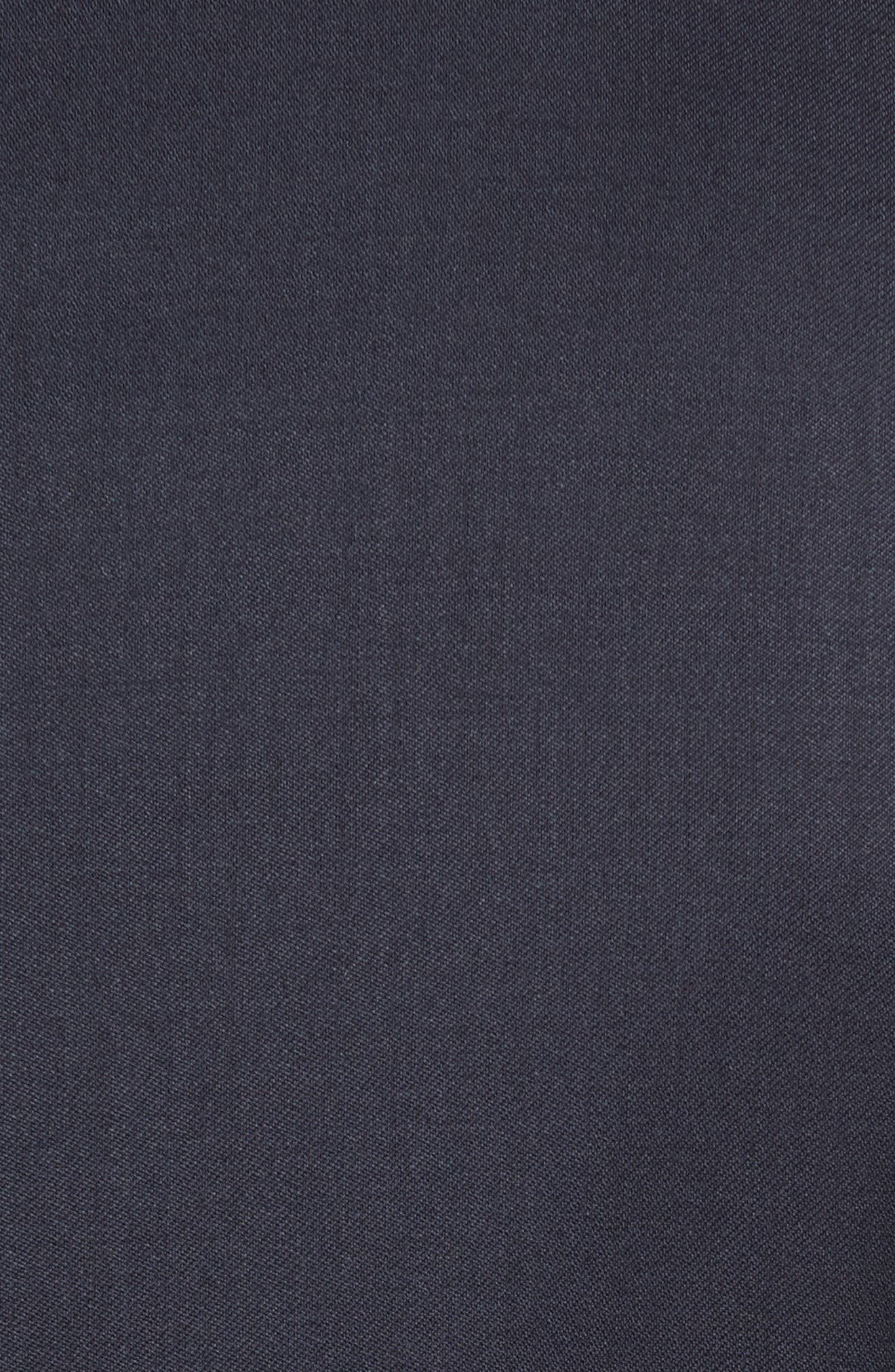 CANALI, Classic Fit Solid Wool Suit, Alternate thumbnail 4, color, NAVY
