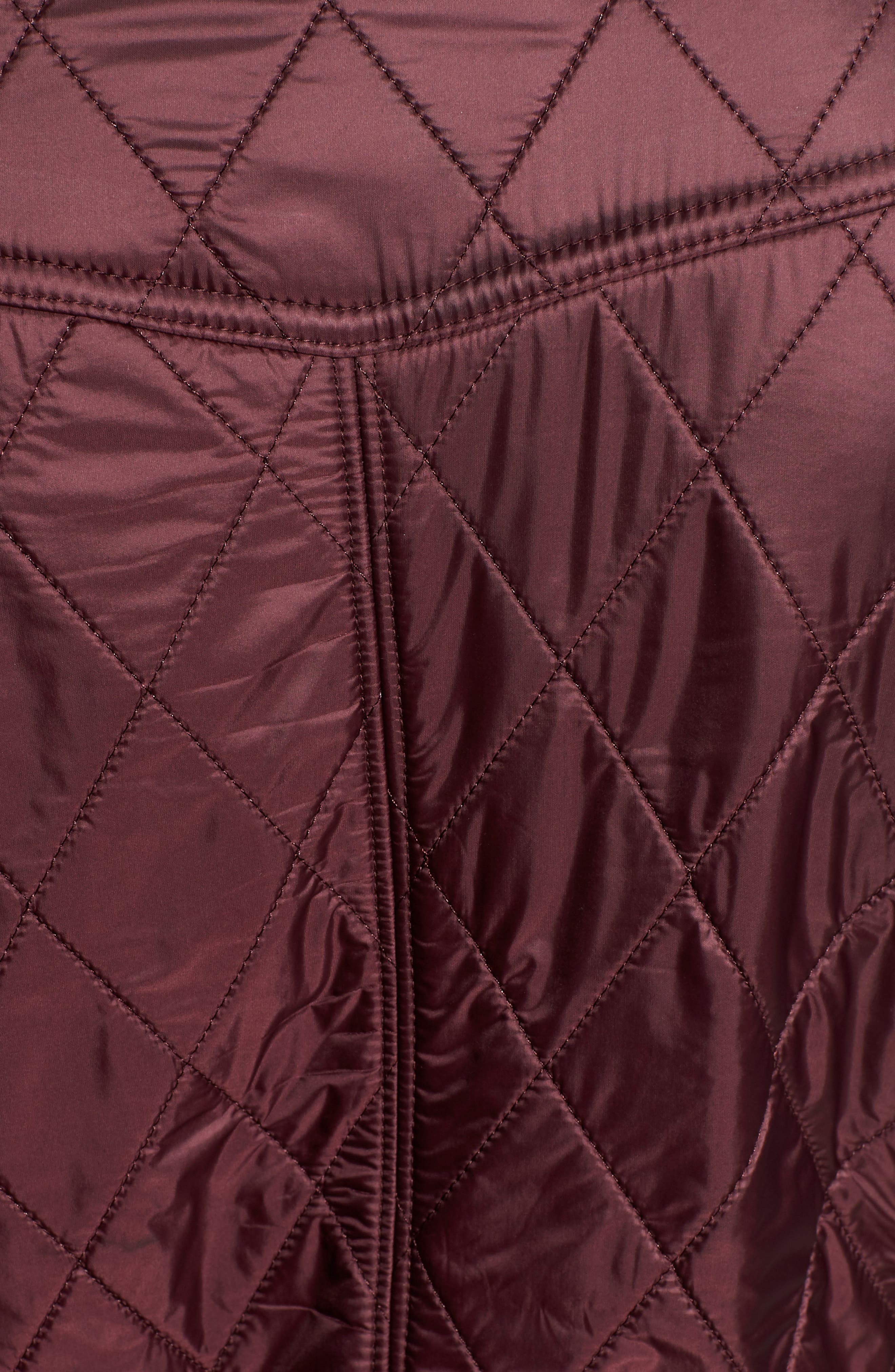 BARBOUR, 'Cavalry' Quilted Vest, Alternate thumbnail 7, color, AUBERGINE/ NAVY