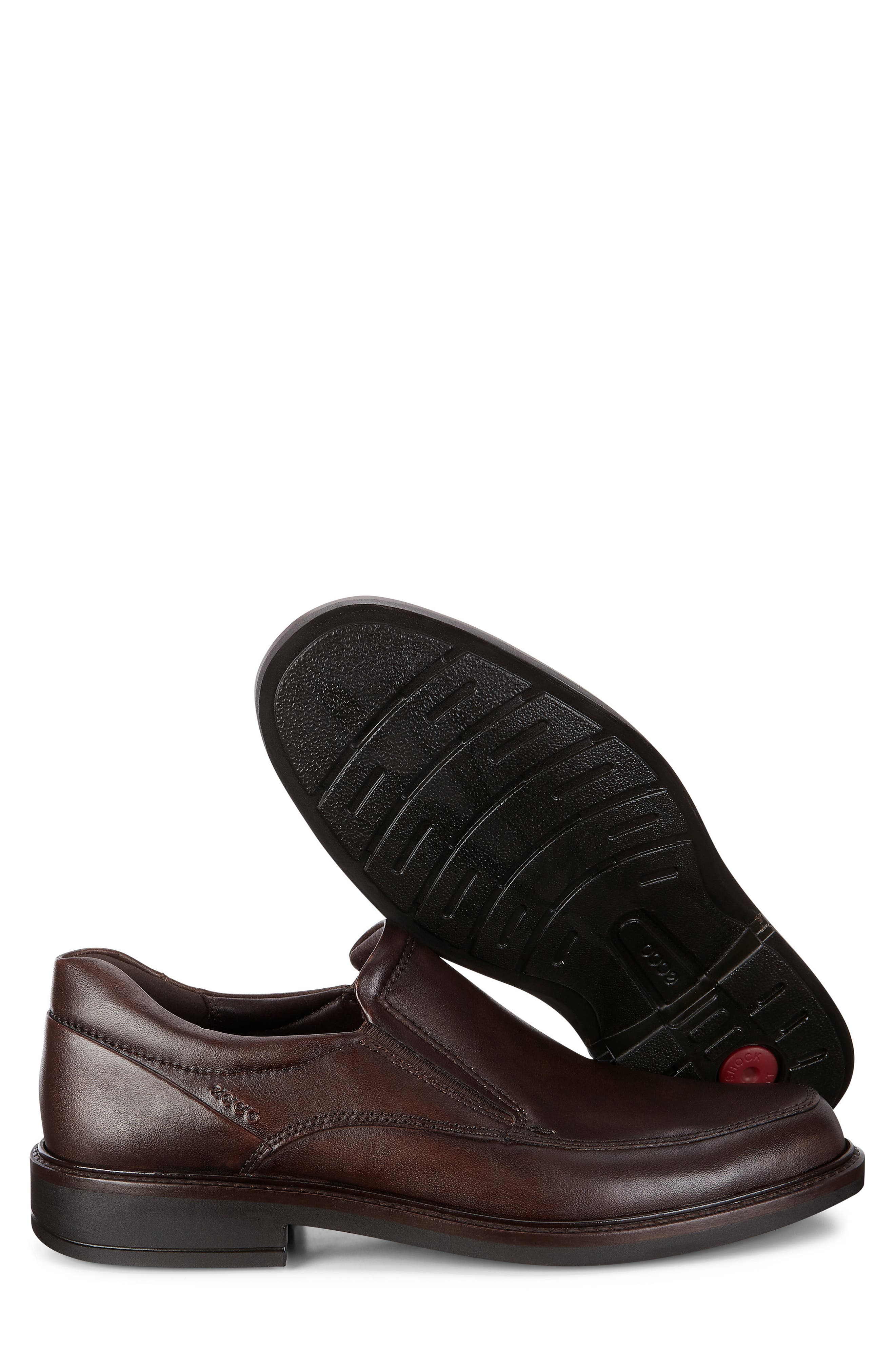 ECCO, Holton Slip-On, Alternate thumbnail 7, color, BROWN LEATHER