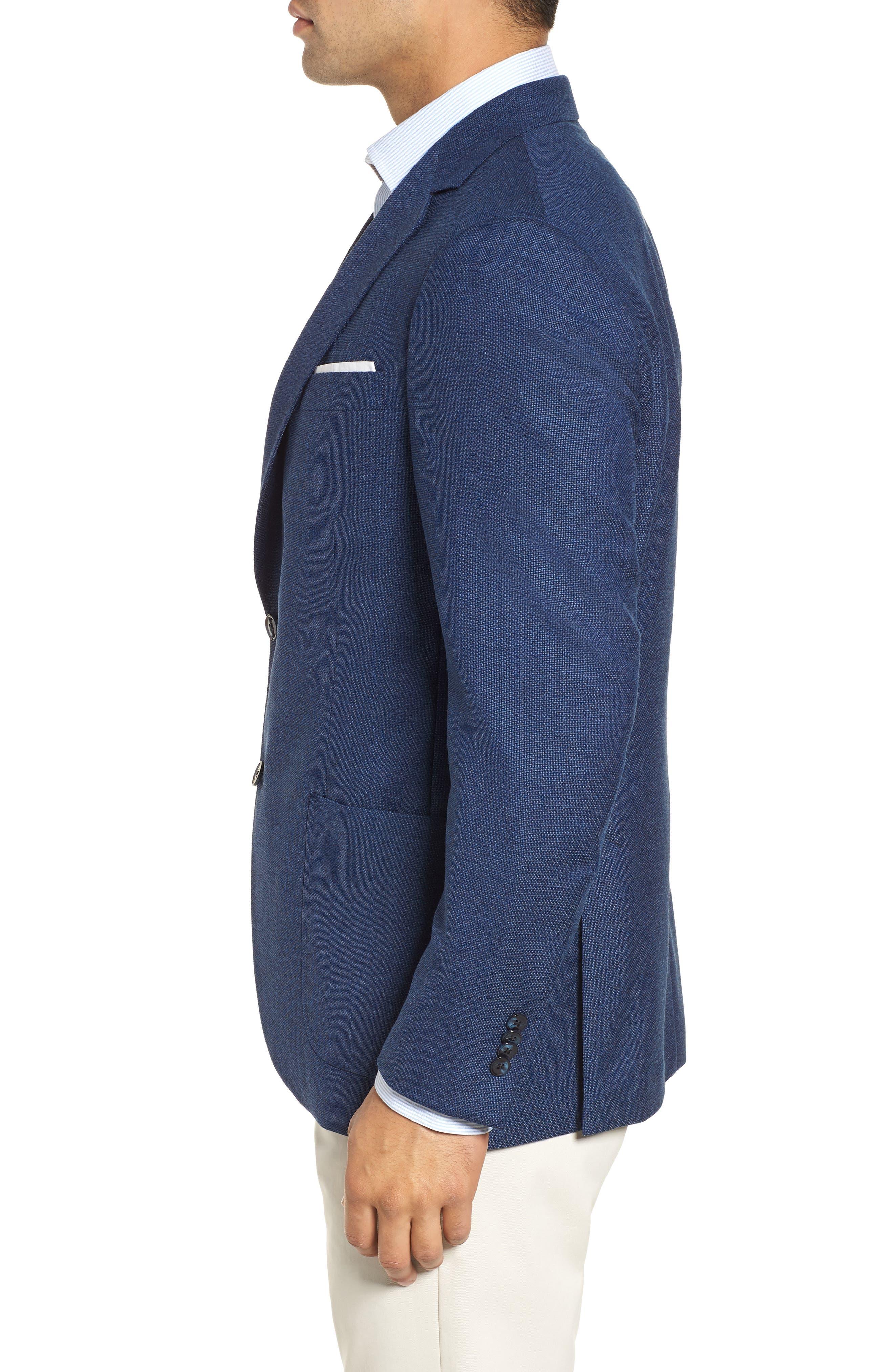 PETER MILLAR, Hyperlight Classic Fit Wool Sport Coat, Alternate thumbnail 3, color, 400