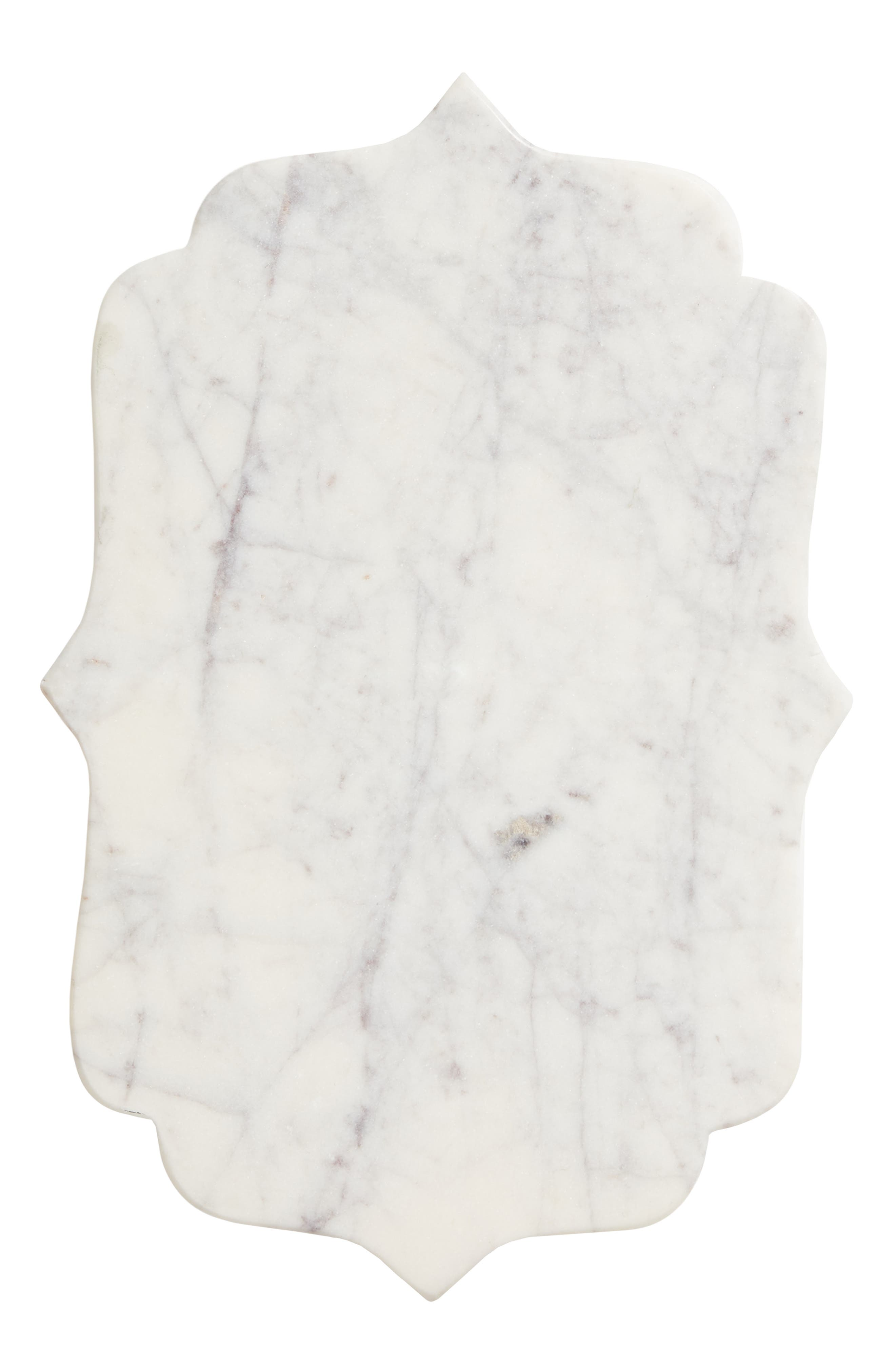 NORDSTROM AT HOME, Lavender Marble Serving Tray, Main thumbnail 1, color, WHITE