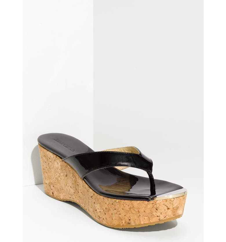 c165a8071 Jimmy Choo  Pathos Pat  Cork Wedge Sandal