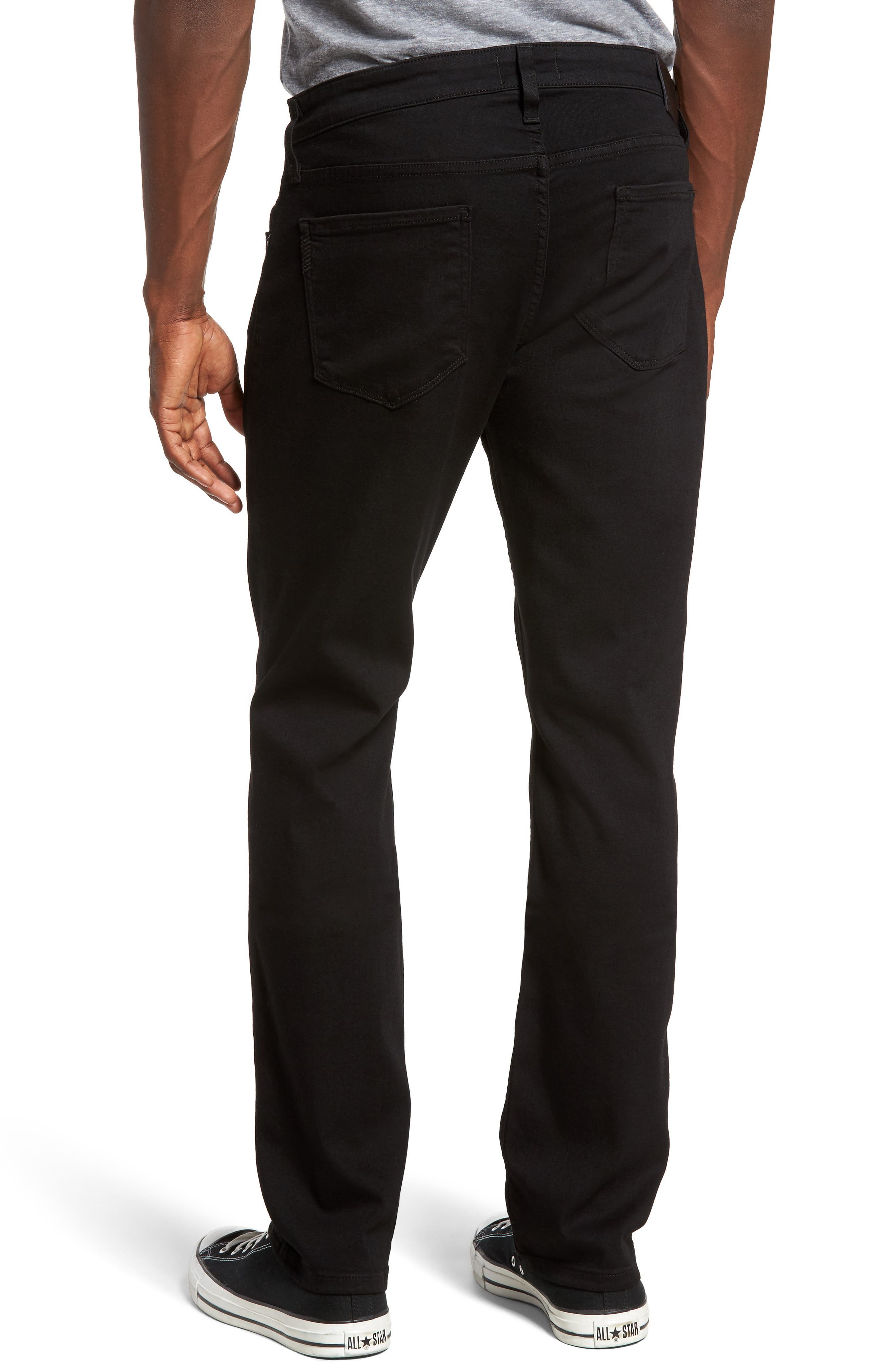 PAIGE, Federal Slim Straight Leg Jeans, Alternate thumbnail 2, color, BLACK SHADOW