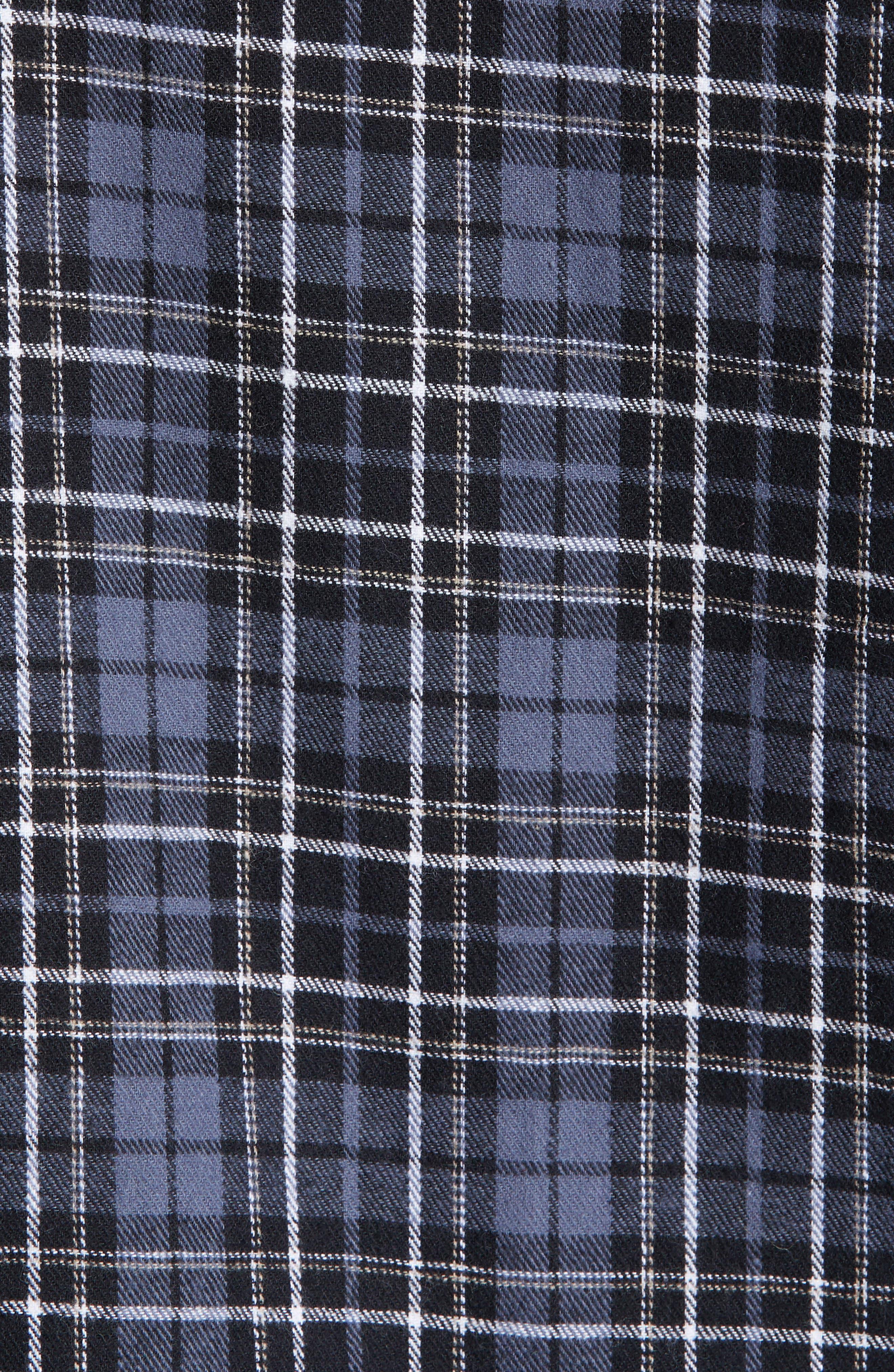 MAJESTIC INTERNATIONAL, True Match Flannel Pajamas, Alternate thumbnail 5, color, 001