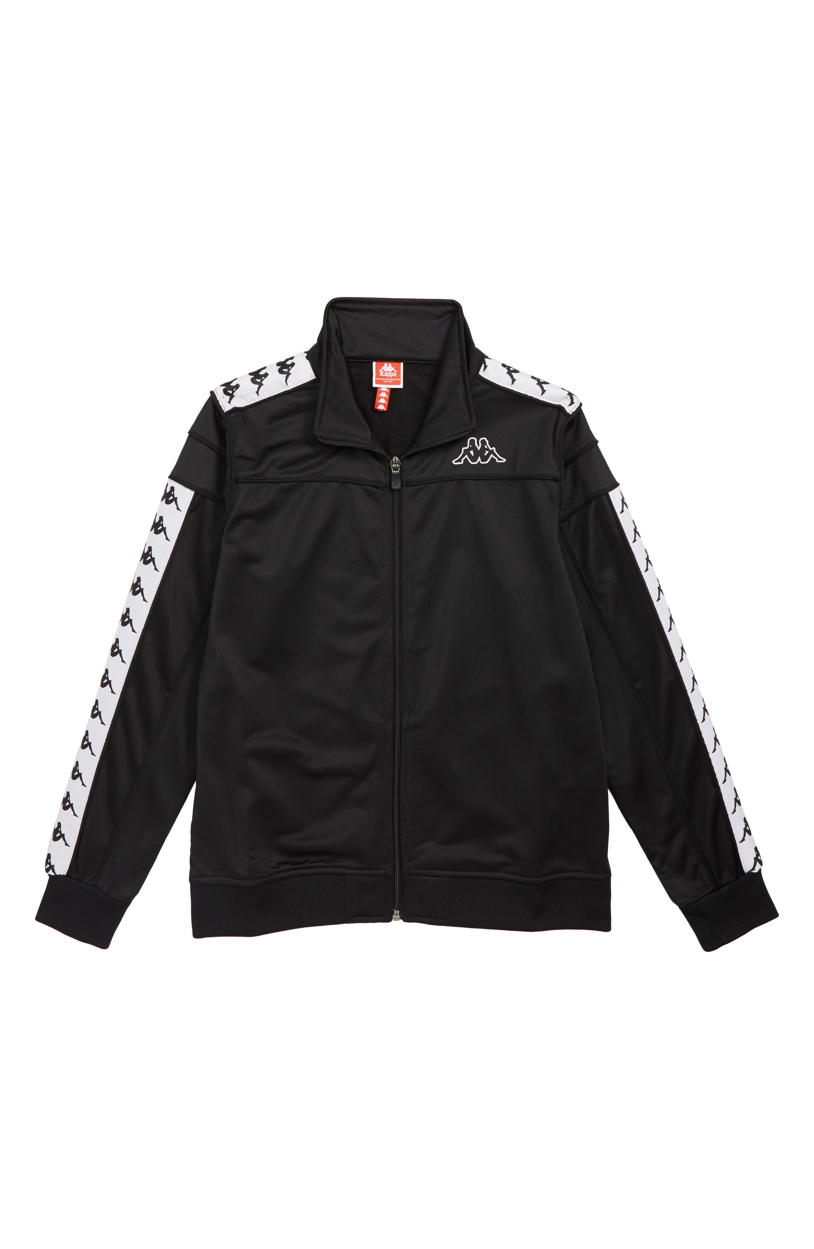Boys Kappa Banda Merez Slim Track Jacket Size L (10y)  Black