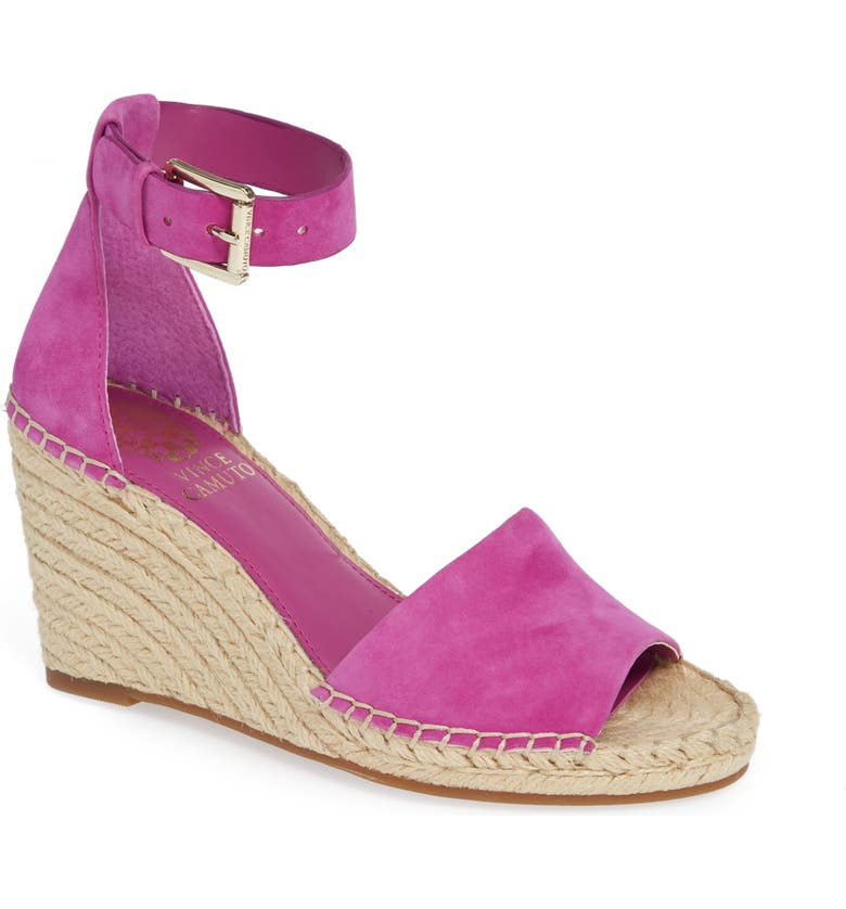 1f0806697f VINCE CAMUTO Leera Wedge Sandal, Main, color, DRAMA PINK SUEDE