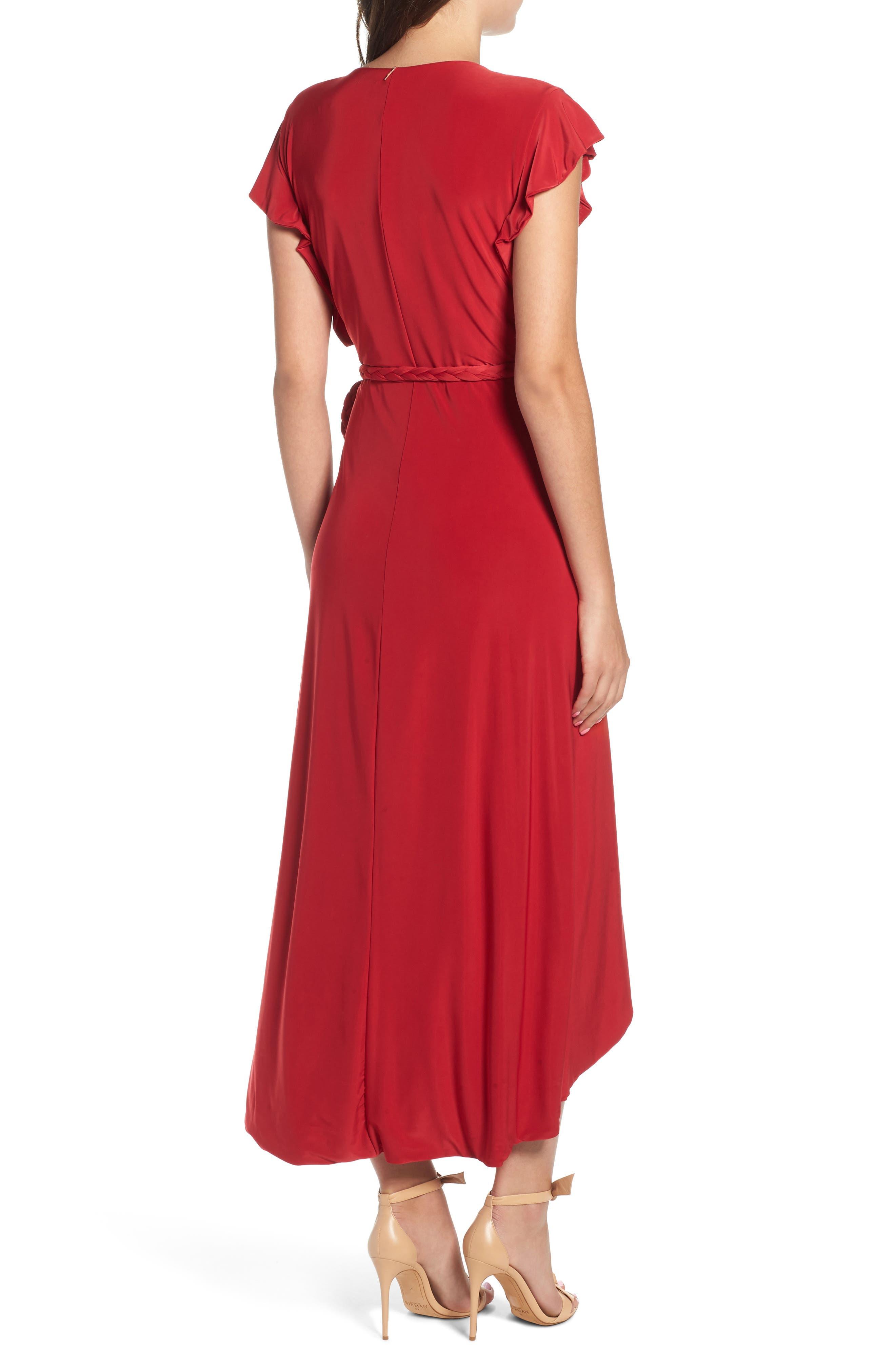 MISA LOS ANGELES, Irina Dress, Alternate thumbnail 2, color, RED