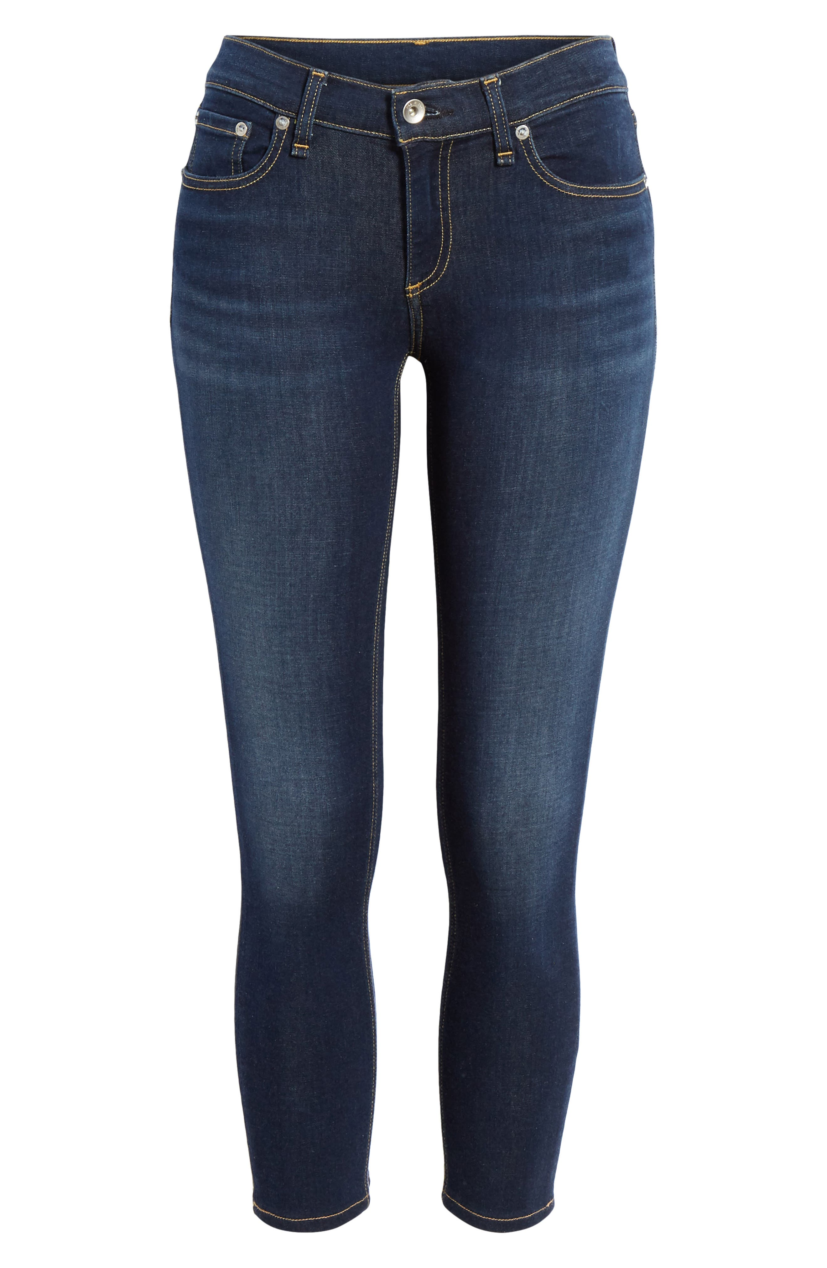RAG & BONE, Cate Ankle Skinny Jeans, Alternate thumbnail 7, color, CARMEN