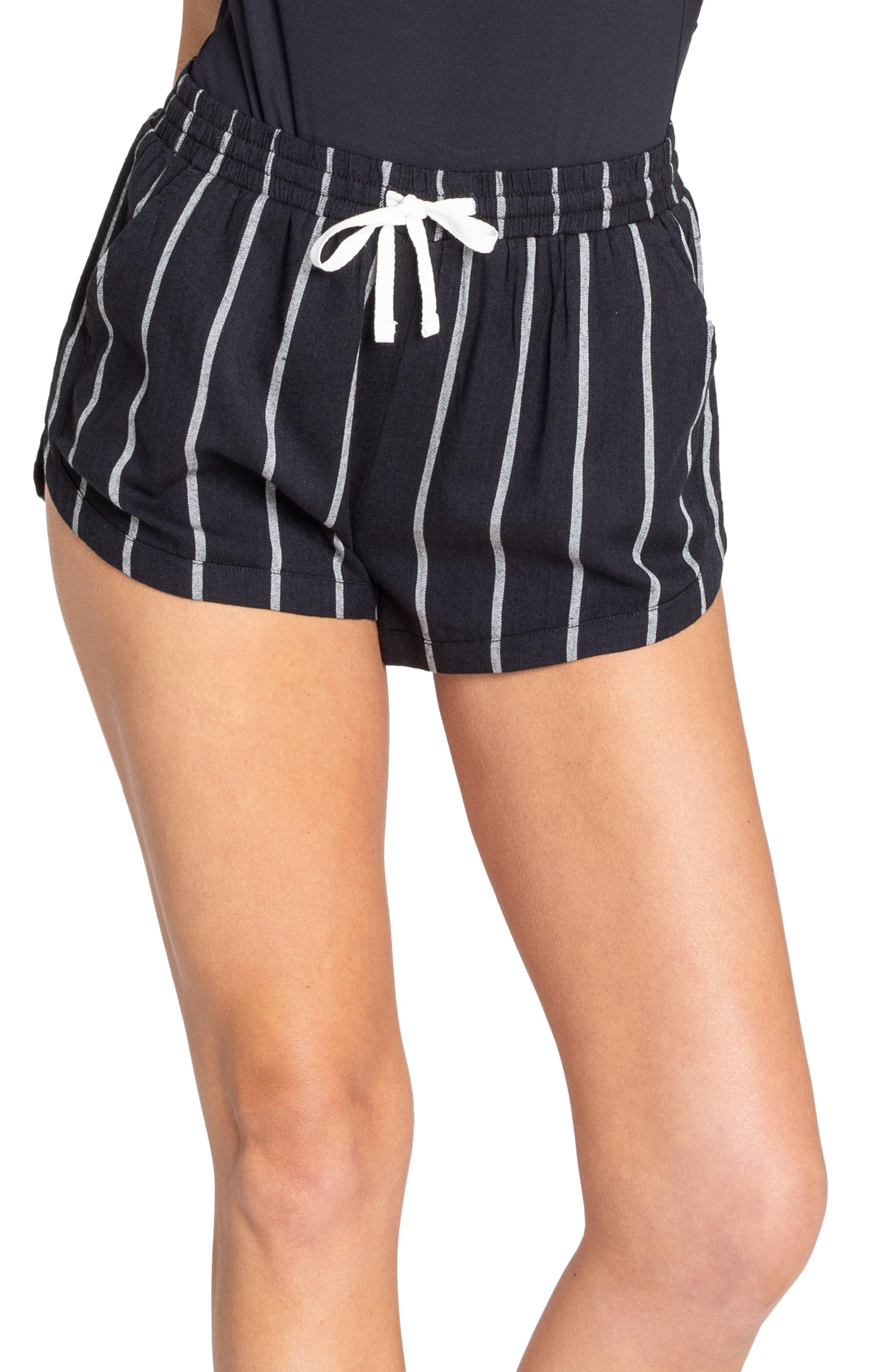 BILLABONG, Road Trippin Stripe Shorts, Alternate thumbnail 3, color, 001