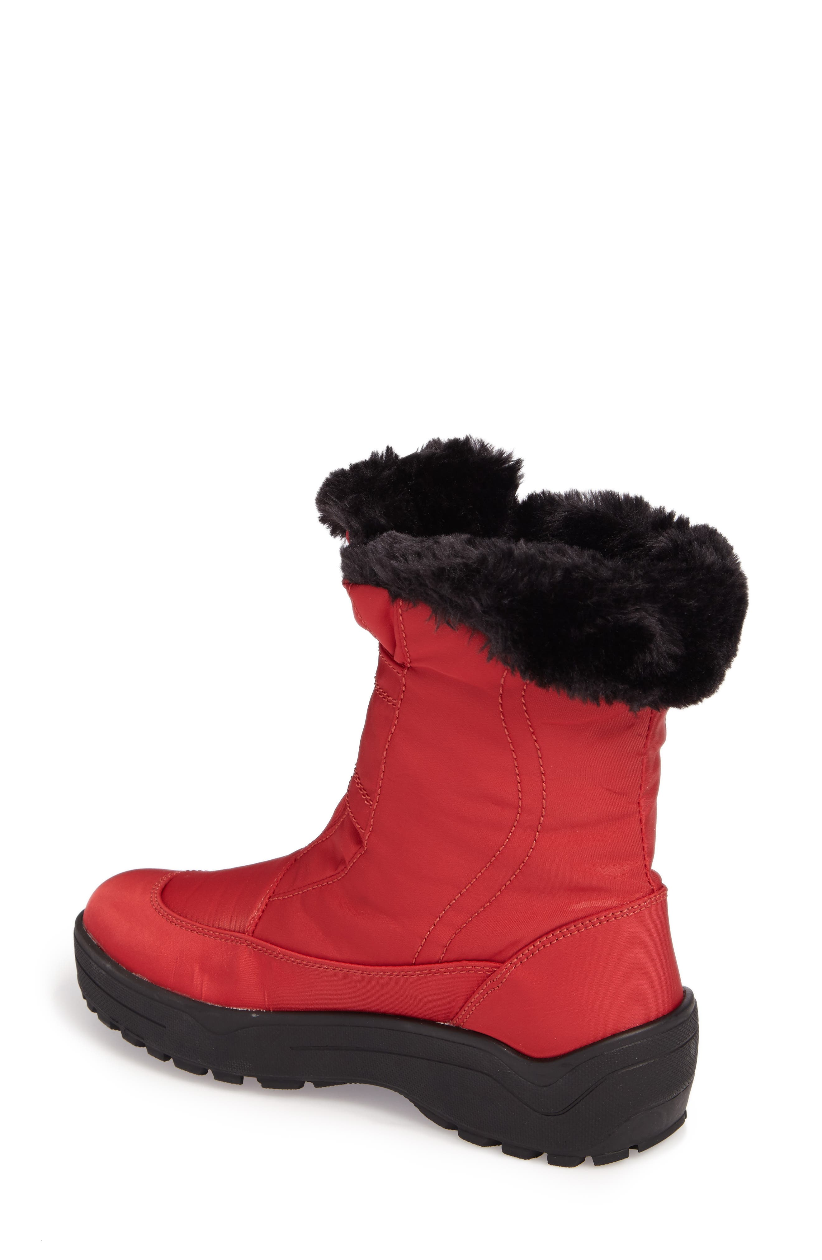 PAJAR, Shoes Moscou Snow Boot, Alternate thumbnail 2, color, RED FABRIC