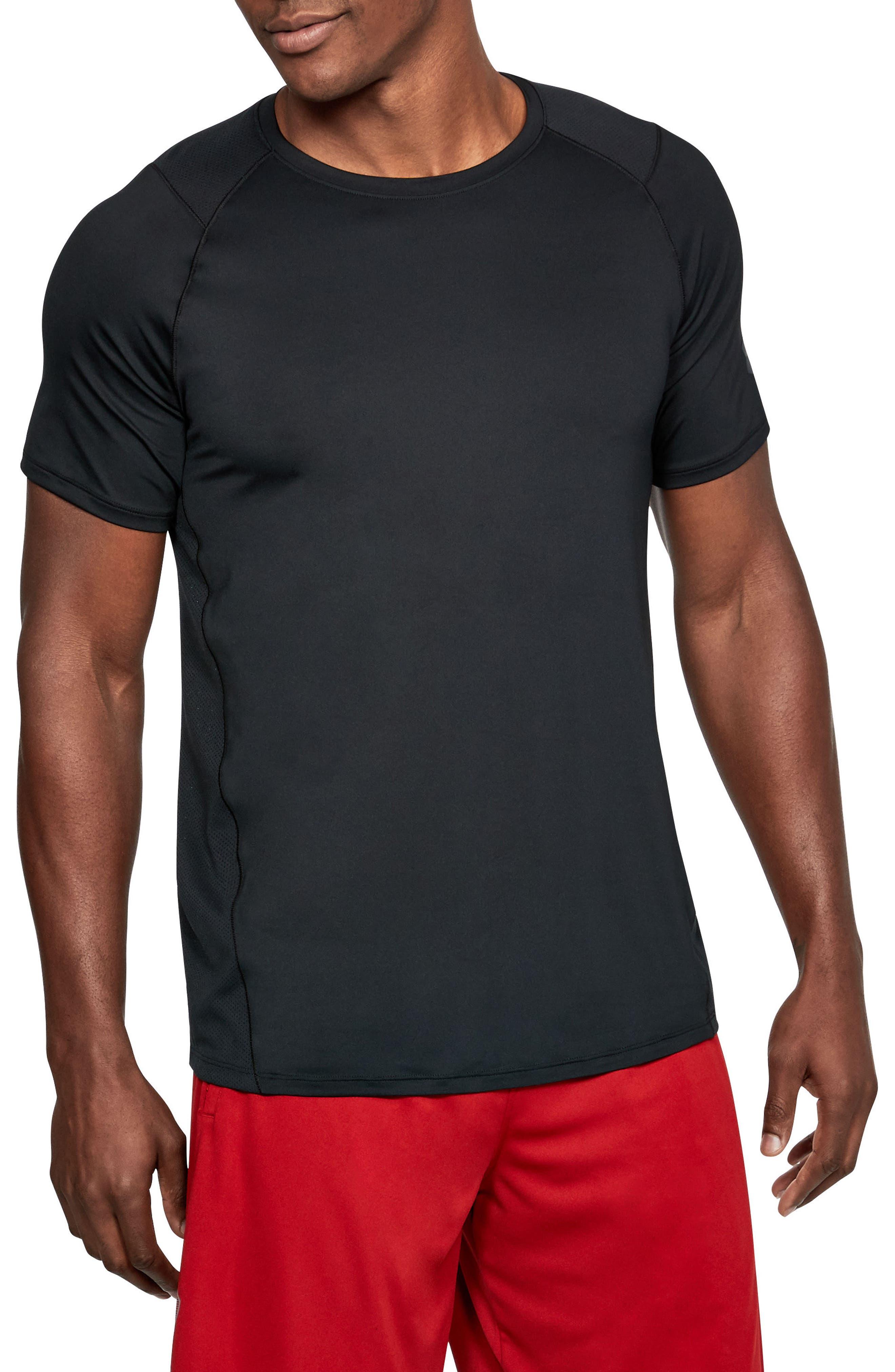 UNDER ARMOUR, Raid 2.0 Crewneck T-Shirt, Main thumbnail 1, color, 001