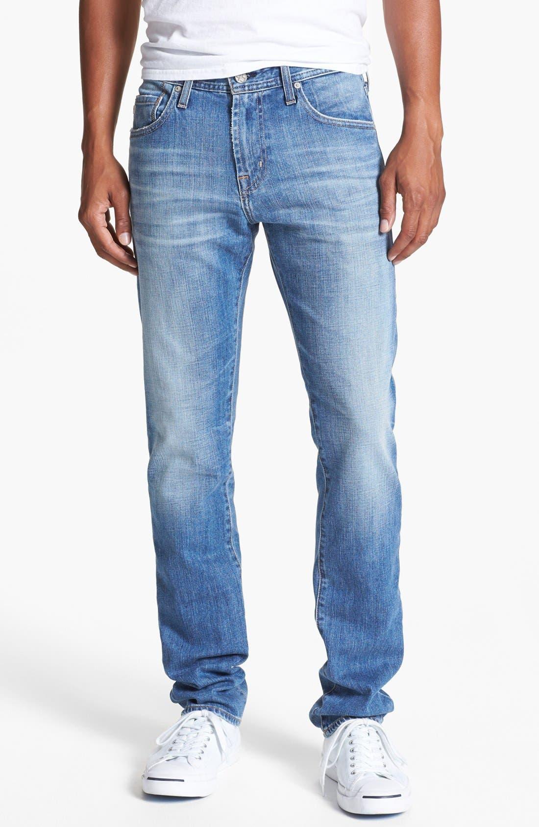 AG, 'Dylan' Slim Skinny Leg Jeans, Main thumbnail 1, color, 454