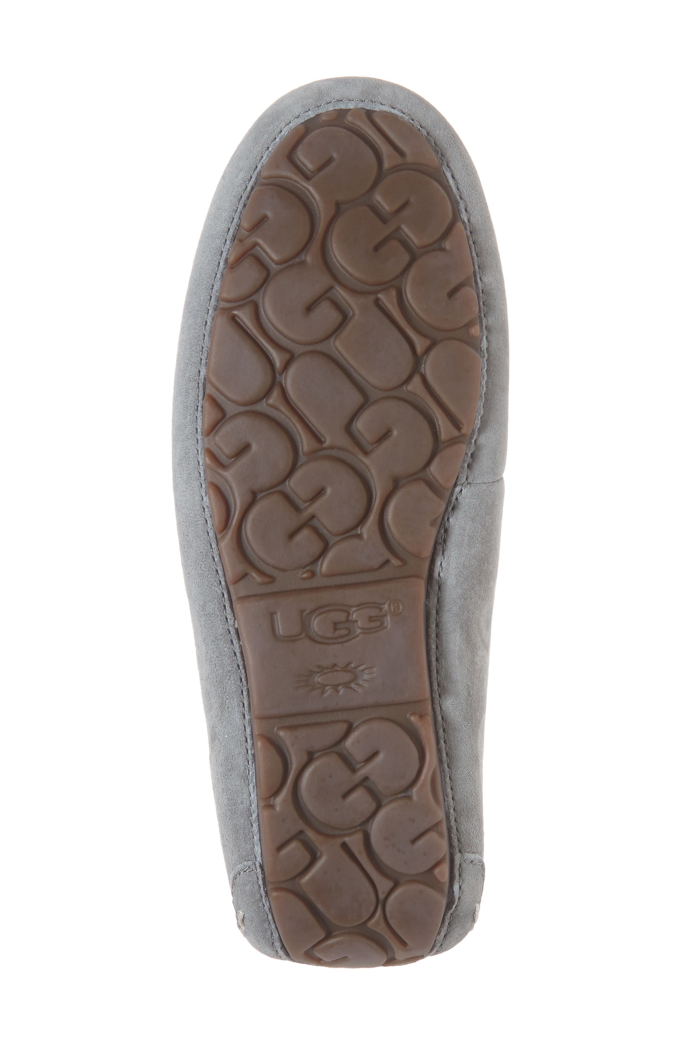 UGG<SUP>®</SUP>, Ansley Water Resistant Slipper, Alternate thumbnail 6, color, LIGHT GREY