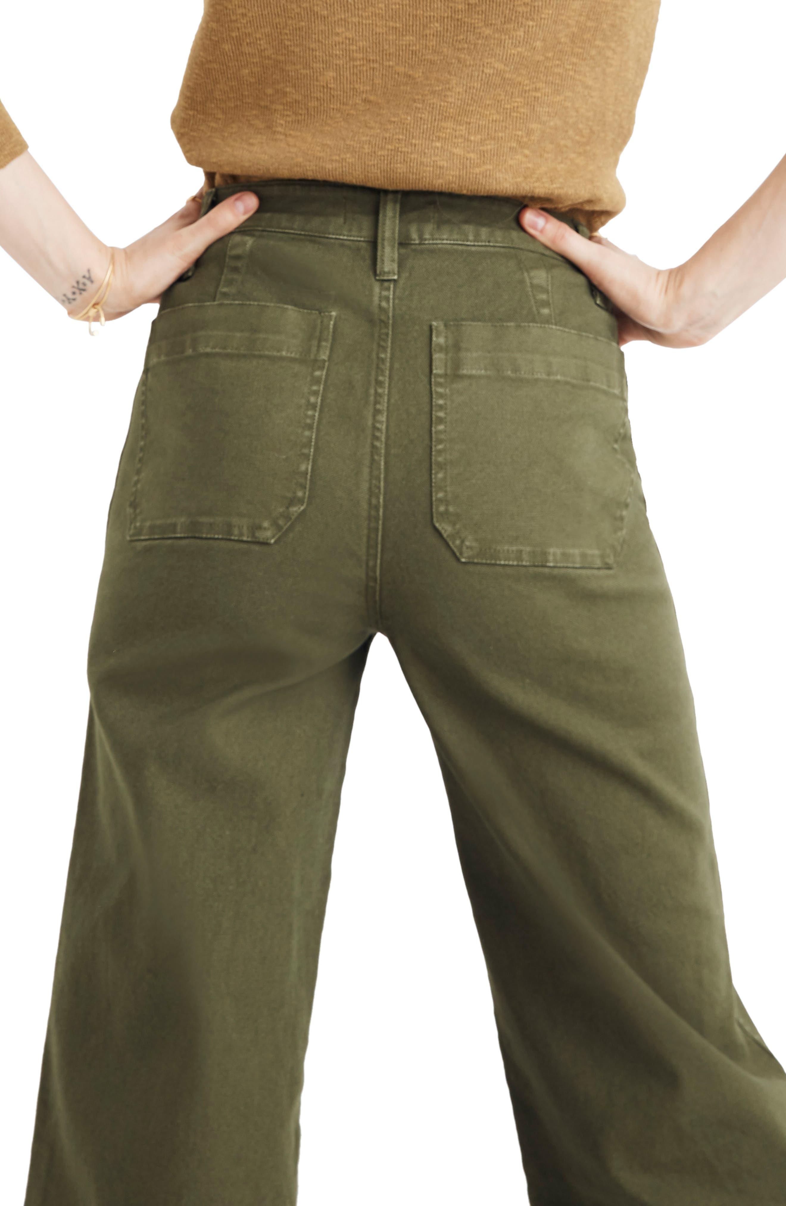 MADEWELL, Emmett Crop Wide Leg Pants, Alternate thumbnail 2, color, LODEN