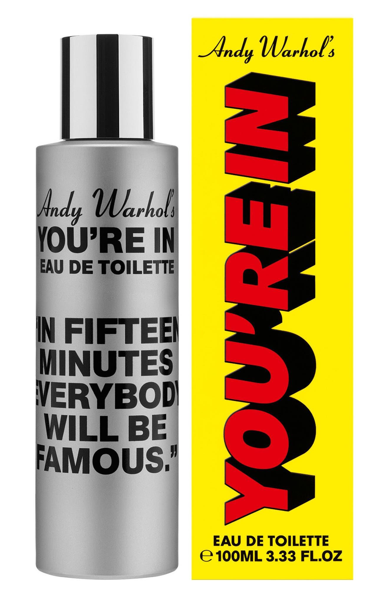 COMME DES GARÇONS, Andy Warhol You're In Unisex Eau de Toilette, Alternate thumbnail 2, color, IN FIFTEEN MINUTES