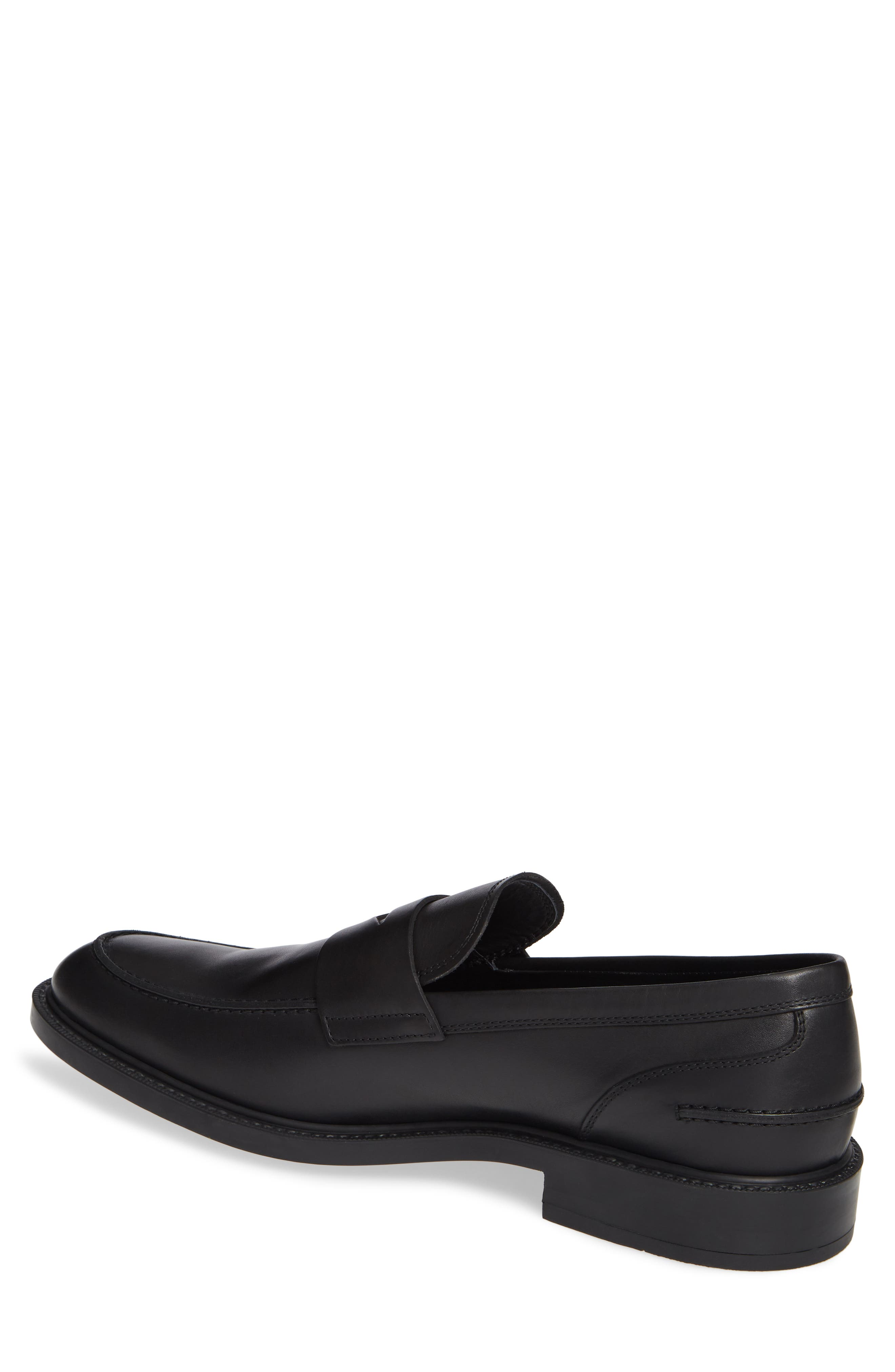 TOD'S, Mocassino Water Repellent Penny Loafer, Alternate thumbnail 2, color, BLACK/ BLACK