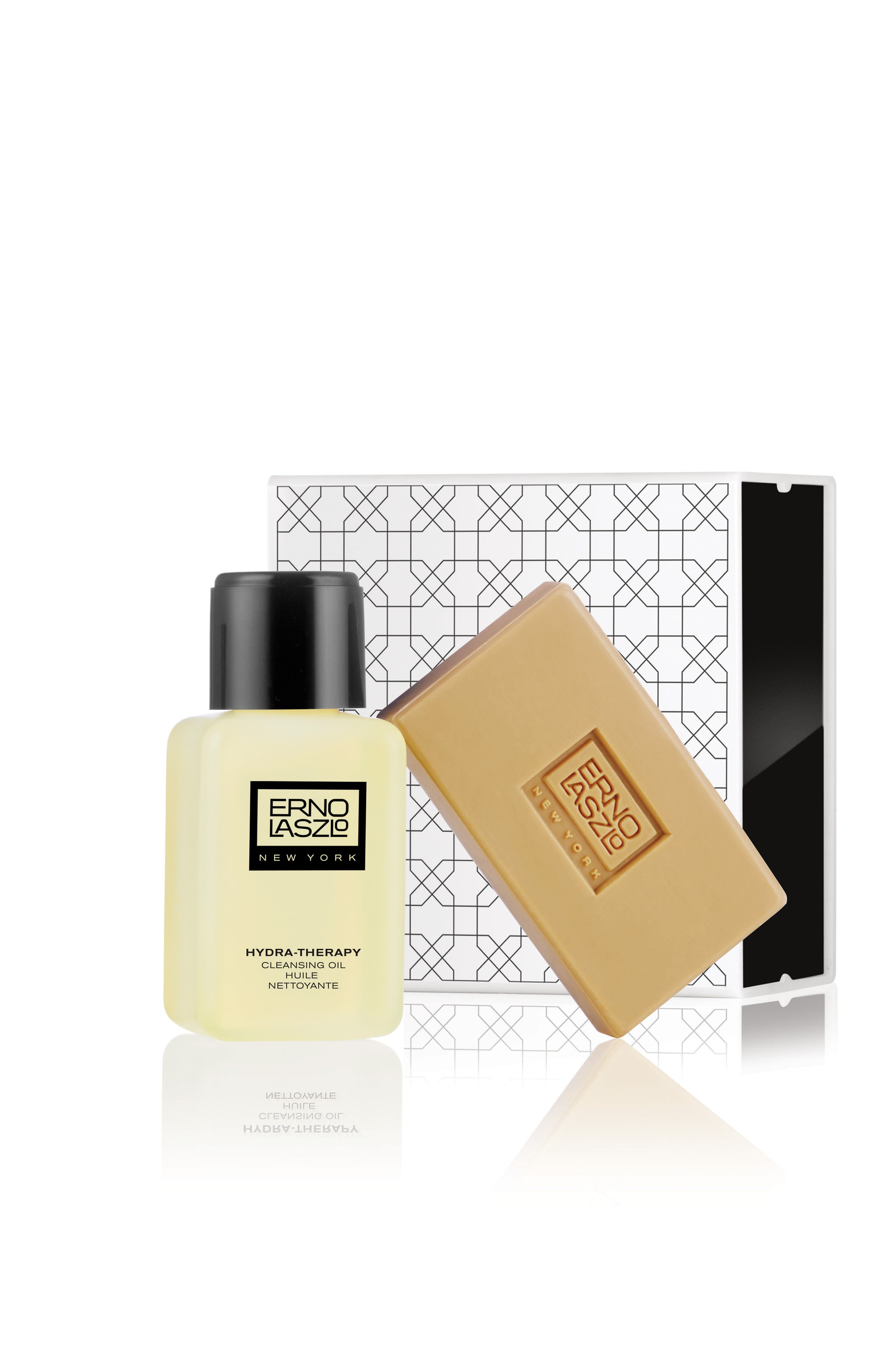 ERNO LASZLO, Hydra-Therapy Double Cleanse Travel Set, Main thumbnail 1, color, NO COLOR