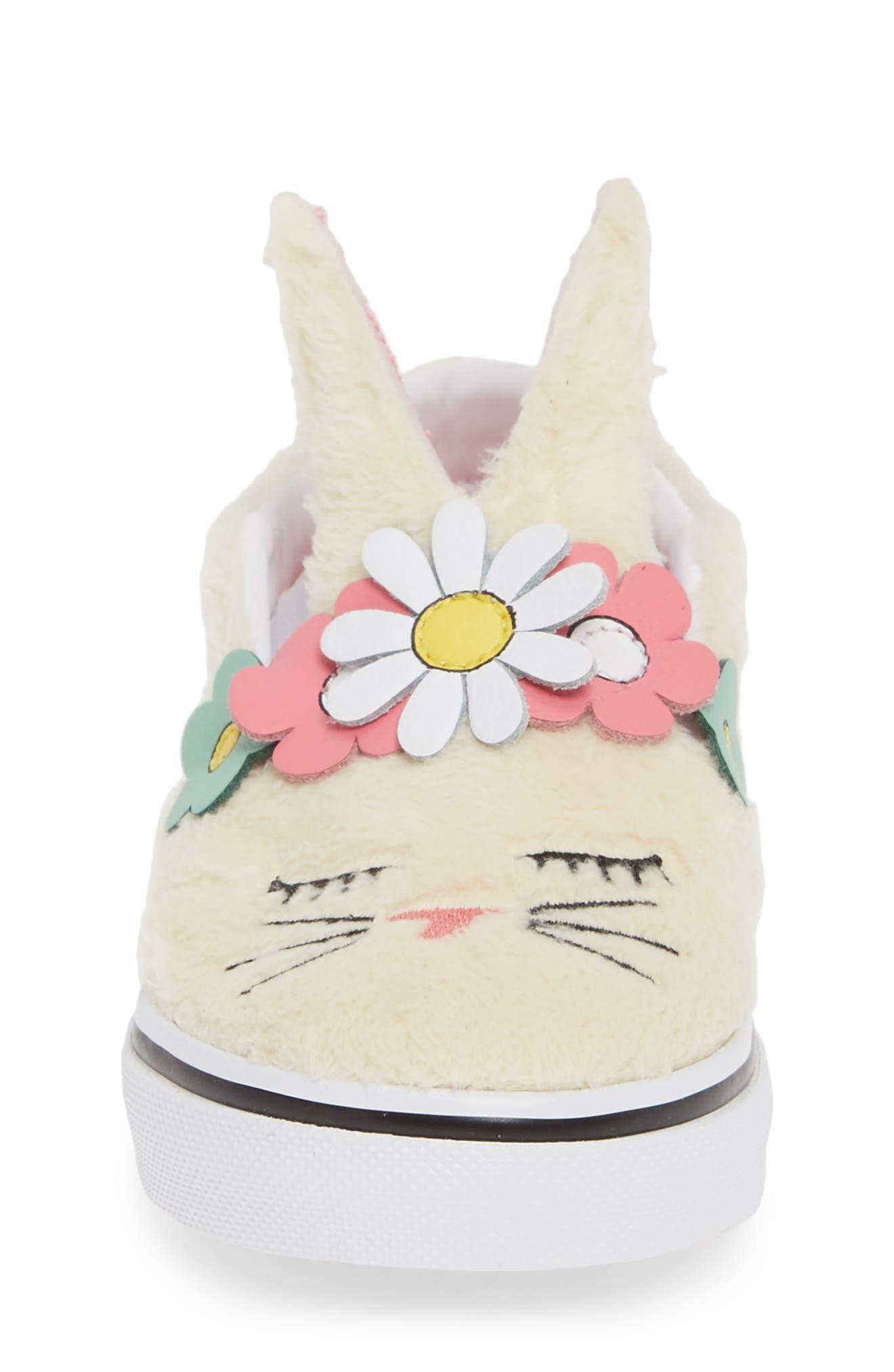 VANS, Slip-On Bunny Sneaker, Alternate thumbnail 4, color, VANILLA CUSTARD