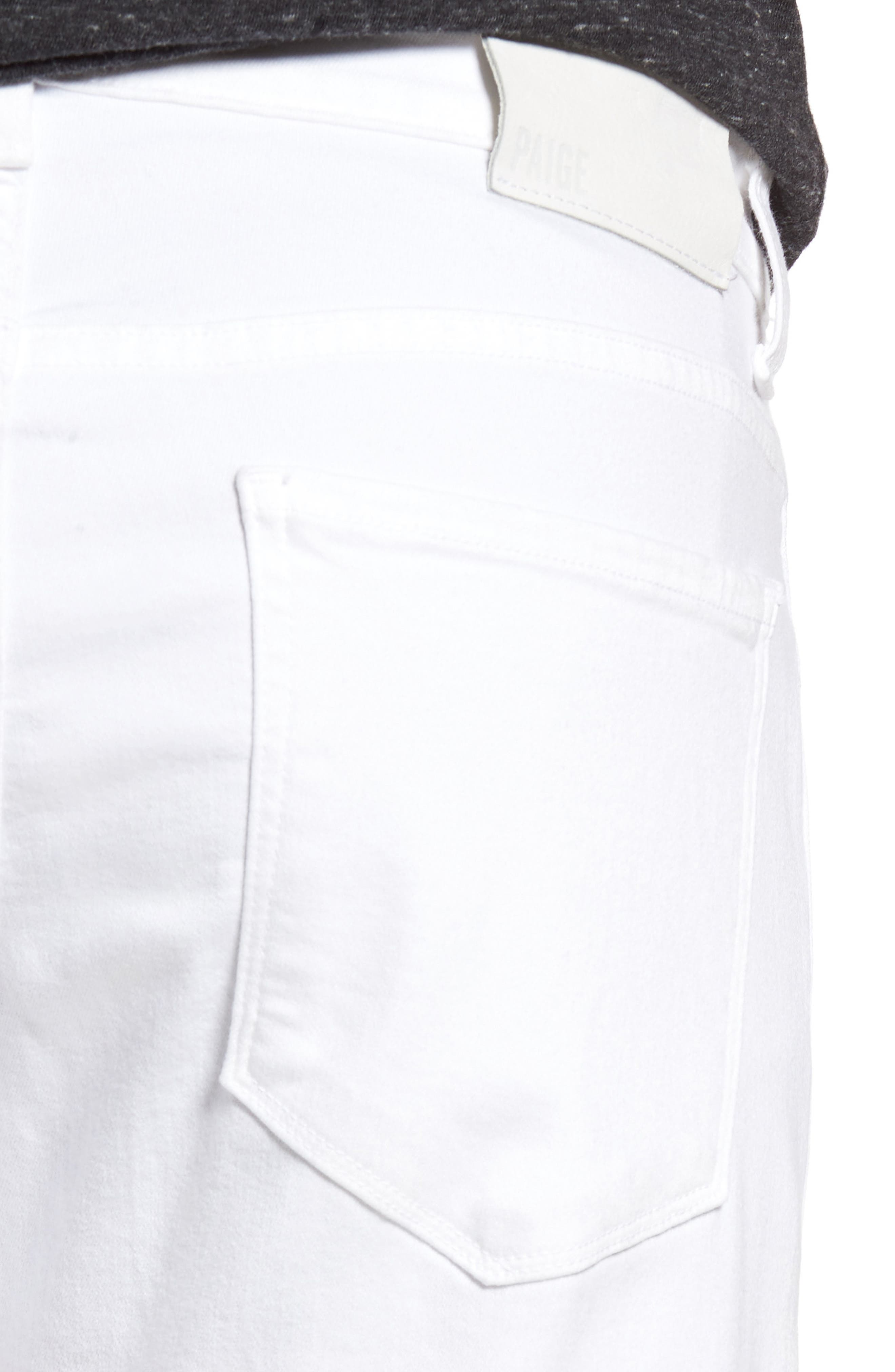 PAIGE, Transcend - Lennox Slim Fit Jeans, Alternate thumbnail 5, color, ICECAP