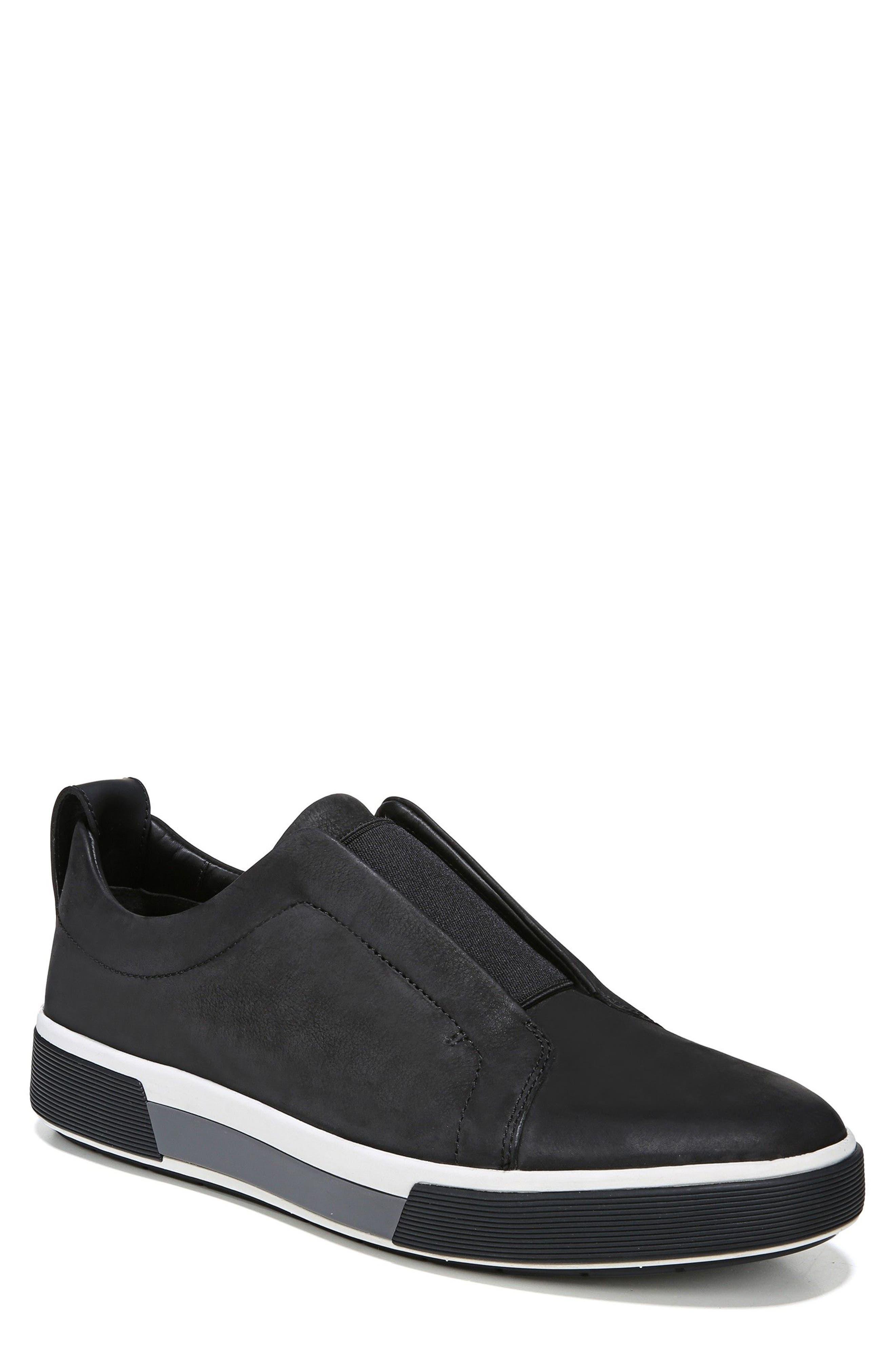 VINCE, Ranger Laceless Sneaker, Main thumbnail 1, color, BLACK