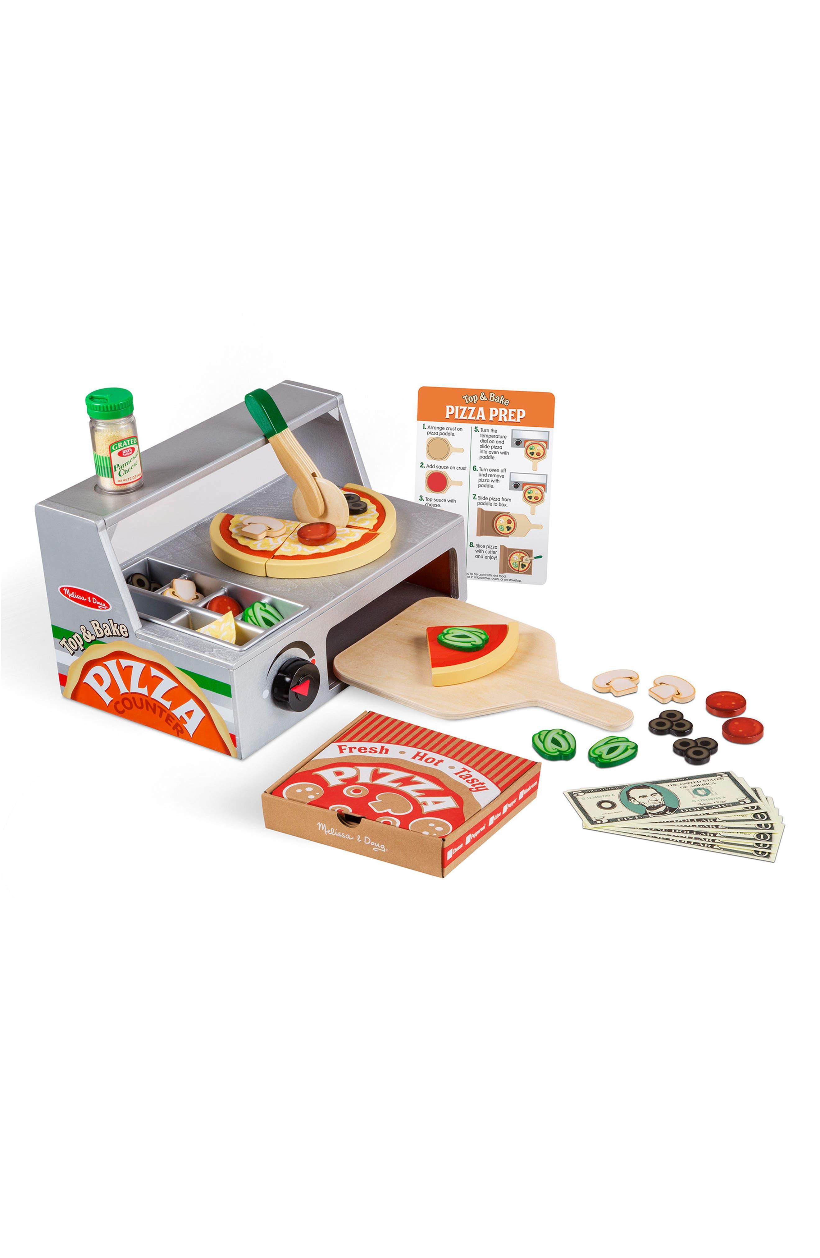 MELISSA & DOUG Pizza Counter, Main, color, MULTI