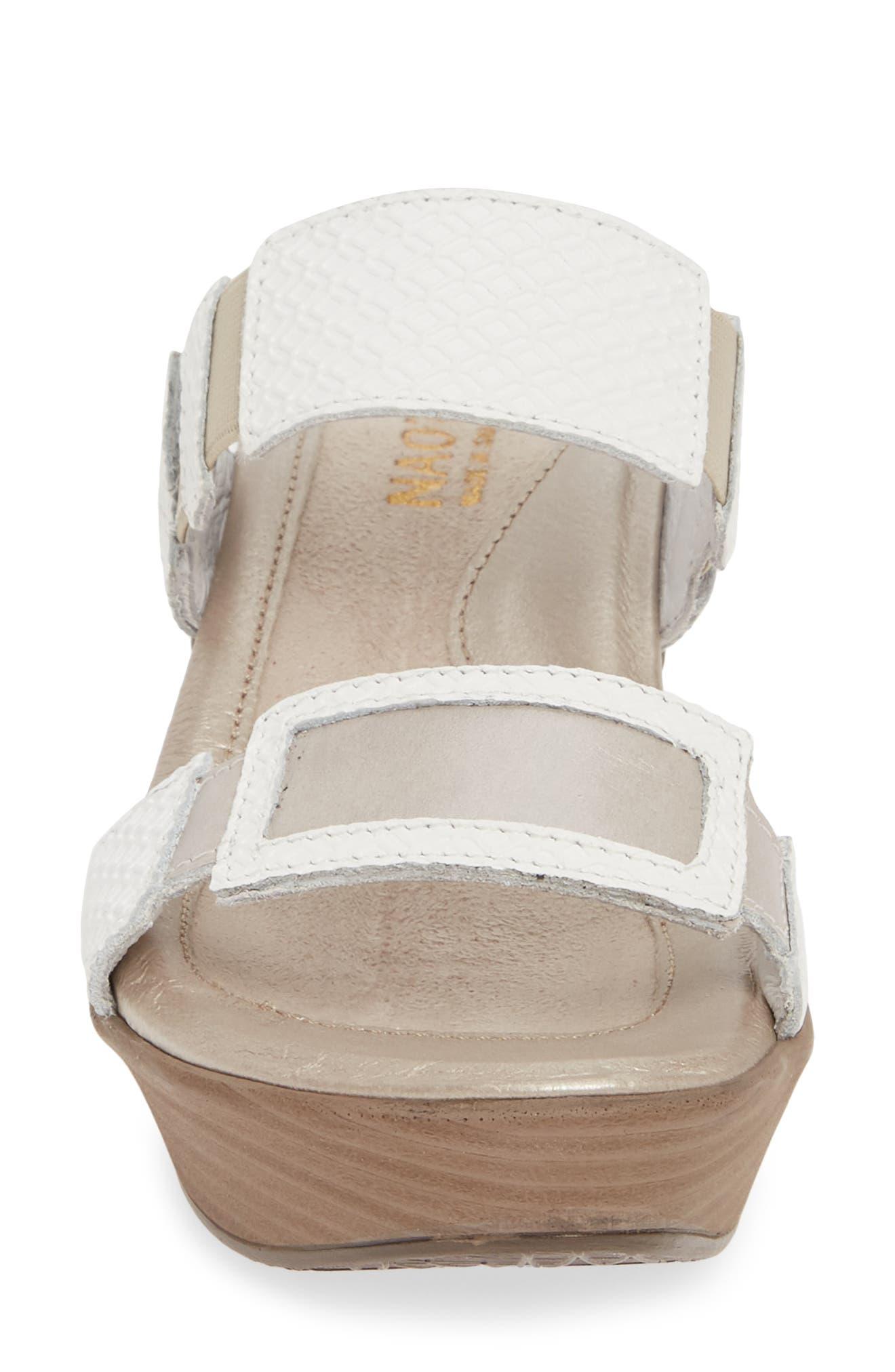 NAOT, 'Treasure' Sandal, Alternate thumbnail 4, color, WHITE DIAMOND/ QUARTZ
