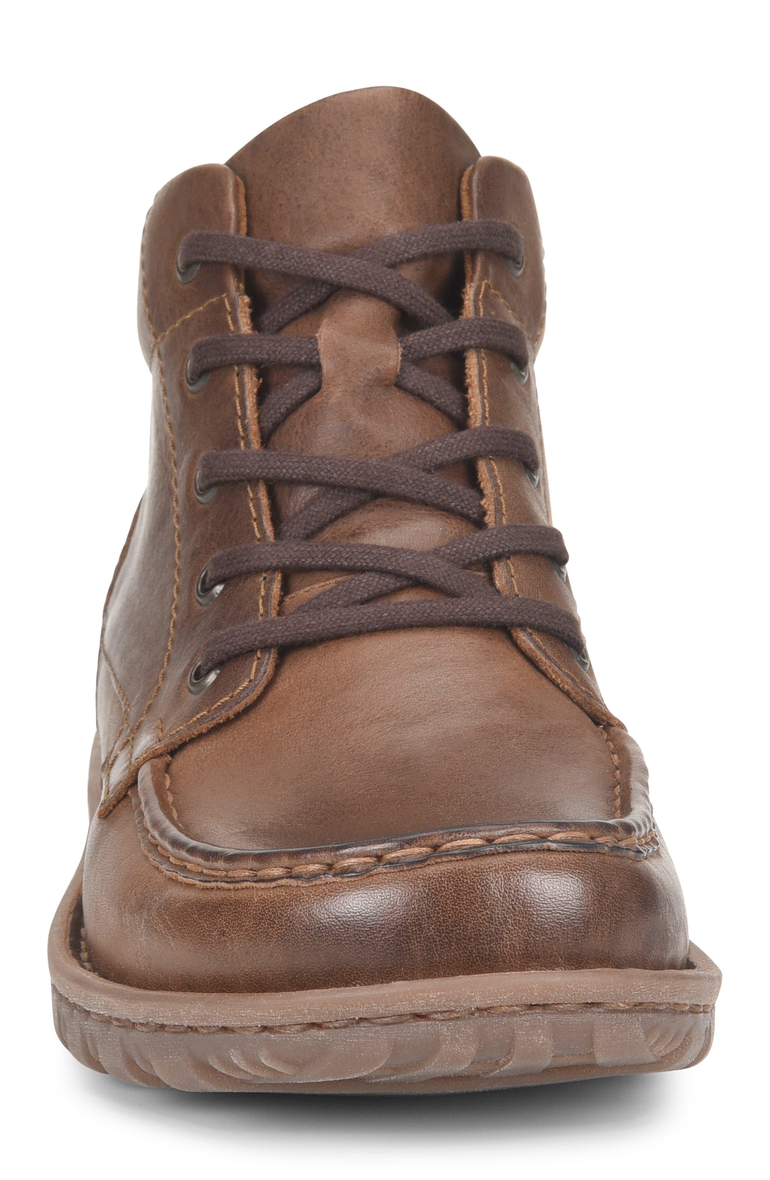 BØRN, Gilden Moc Toe Boot, Alternate thumbnail 4, color, BROWN LEATHER