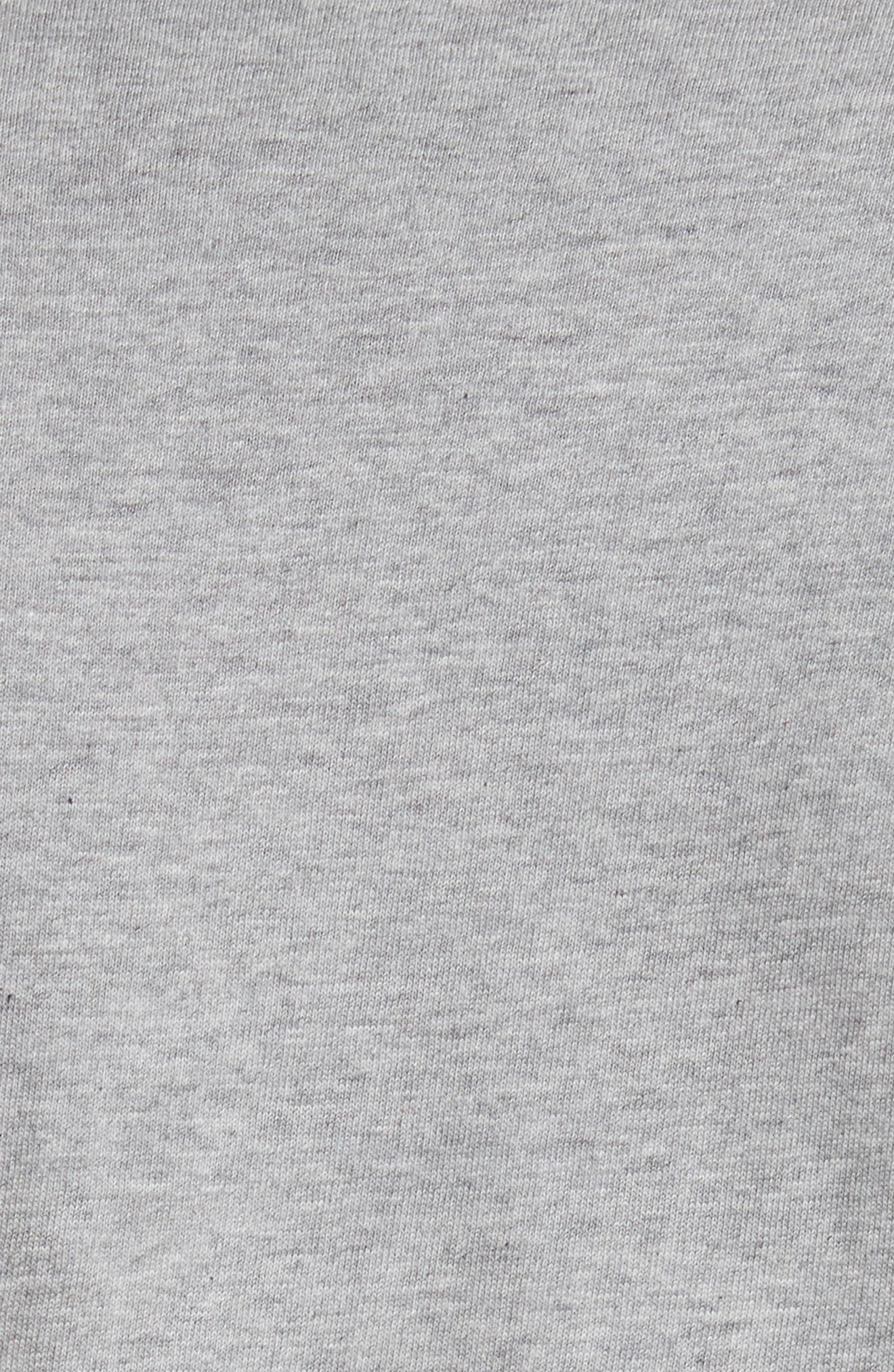 COMME DES GARÇONS PLAY, Logo Graphic Crewneck T-Shirt, Alternate thumbnail 5, color, TOP DYED GRAY