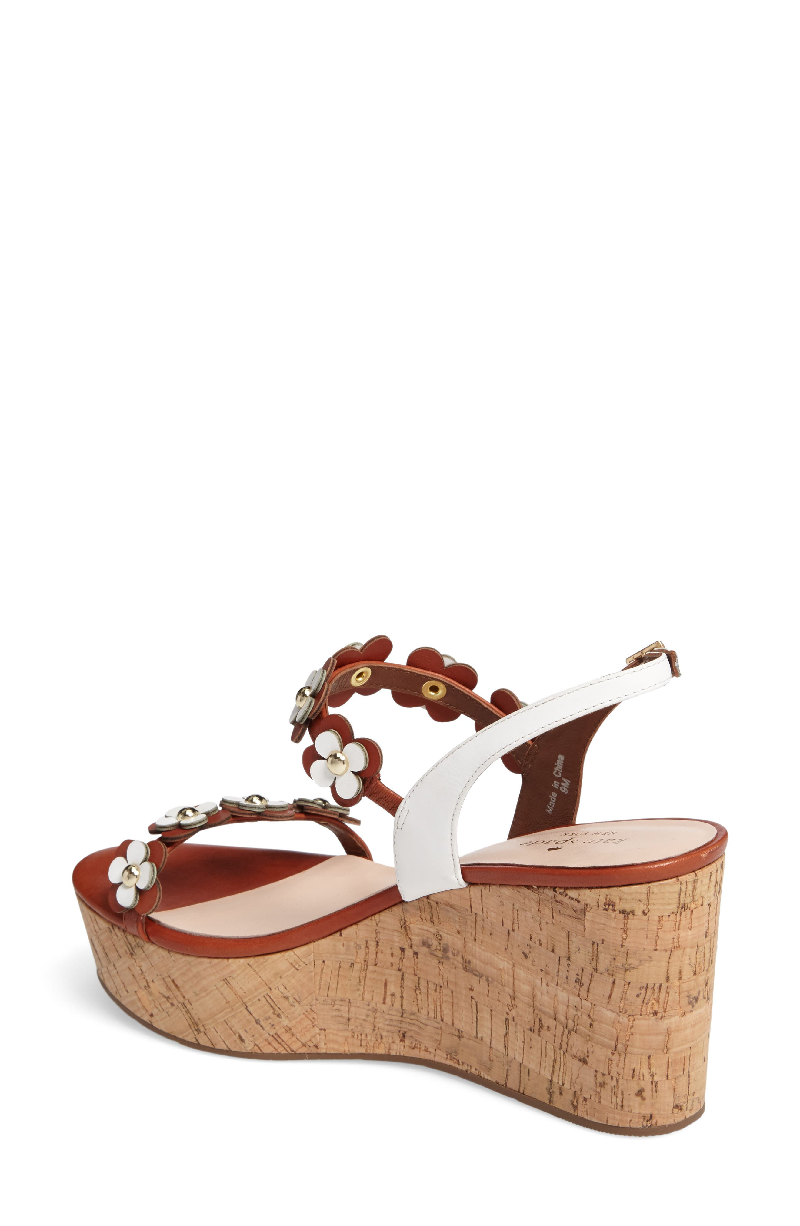 KATE SPADE NEW YORK, tisdale platform wedge sandal, Alternate thumbnail 2, color, 200