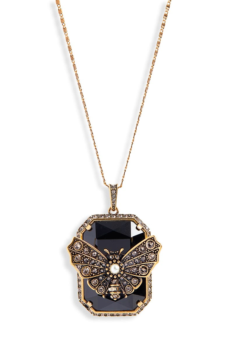 3c756078f ALEXANDER MCQUEEN Long Butterfly Pendant Necklace, Main, color, 710