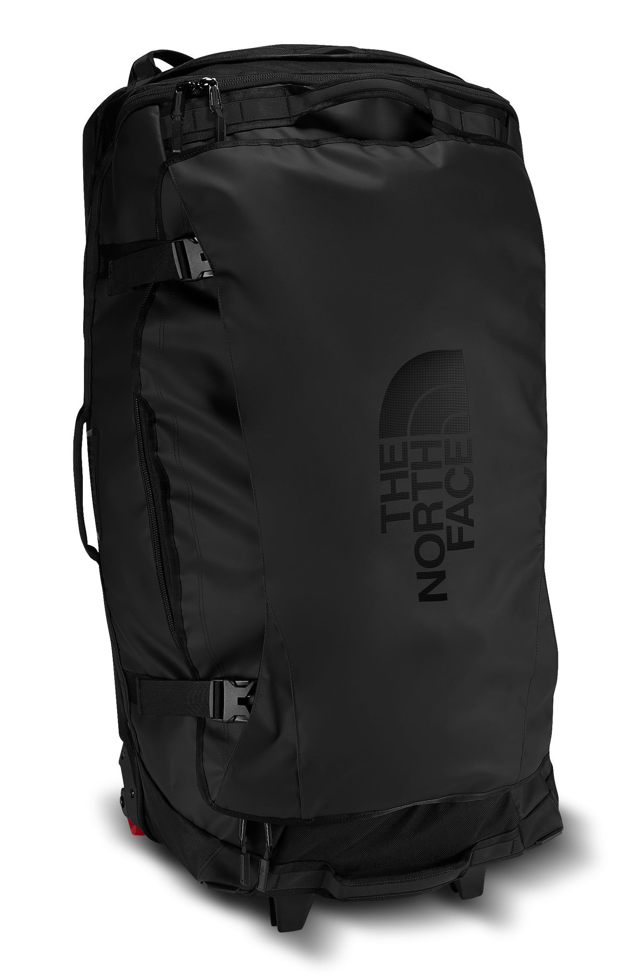 THE NORTH FACE, Rolling Thunder Wheeled Duffle Bag, Main thumbnail 1, color, TNF BLACK