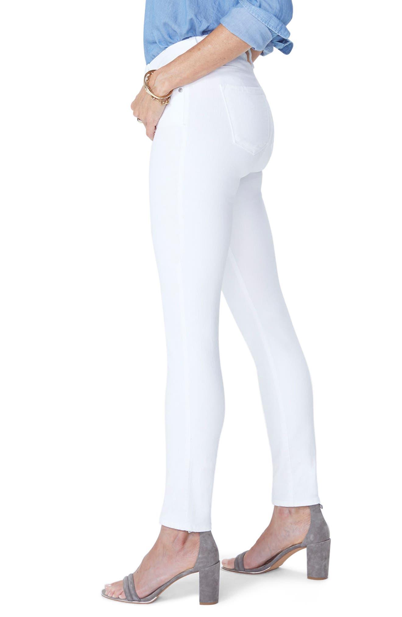 NYDJ, Ami Ankle Skinny Jeans, Alternate thumbnail 3, color, OPTIC WHITE