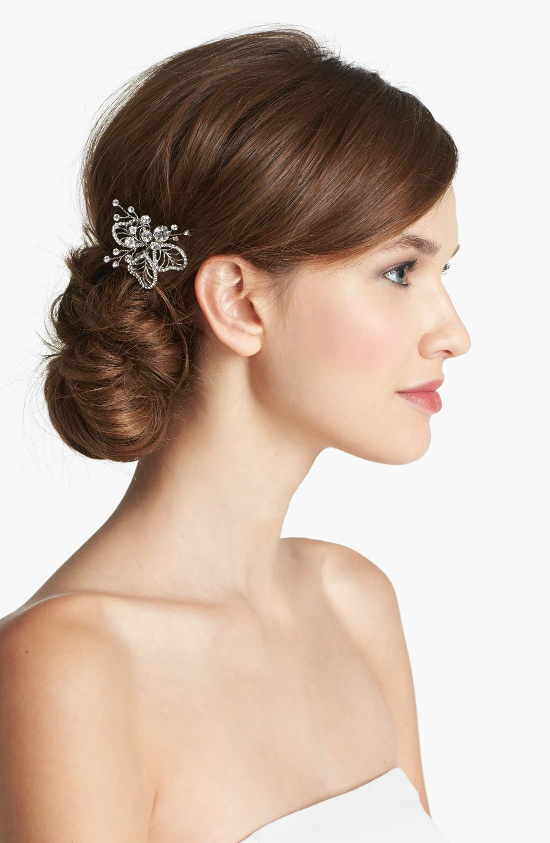 WEDDING BELLES NEW YORK, 'Cosette' Hairpin, Main thumbnail 1, color, SILVER