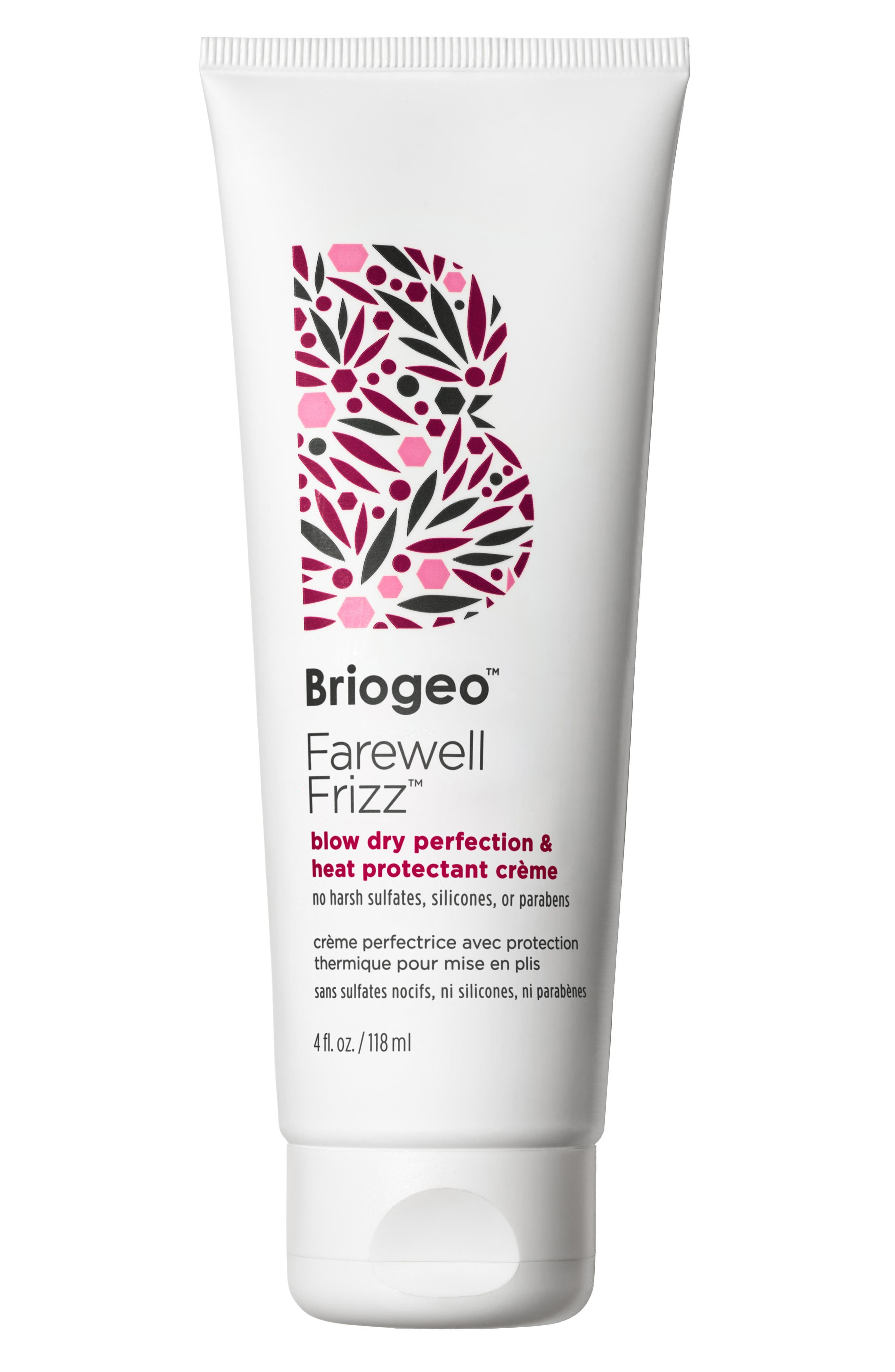 BRIOGEO, Farewell Frizz Blow Dry Perfection and Heat Protectant Crème, Main thumbnail 1, color, NO COLOR