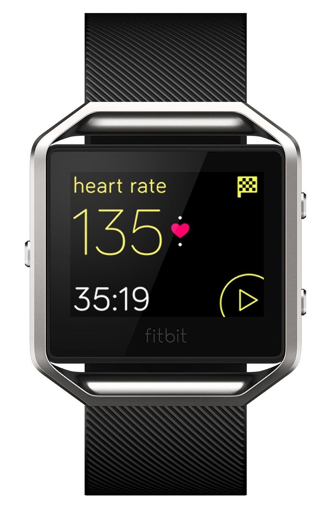 FITBIT, Blaze Smart Fitness Watch, Alternate thumbnail 4, color, 001