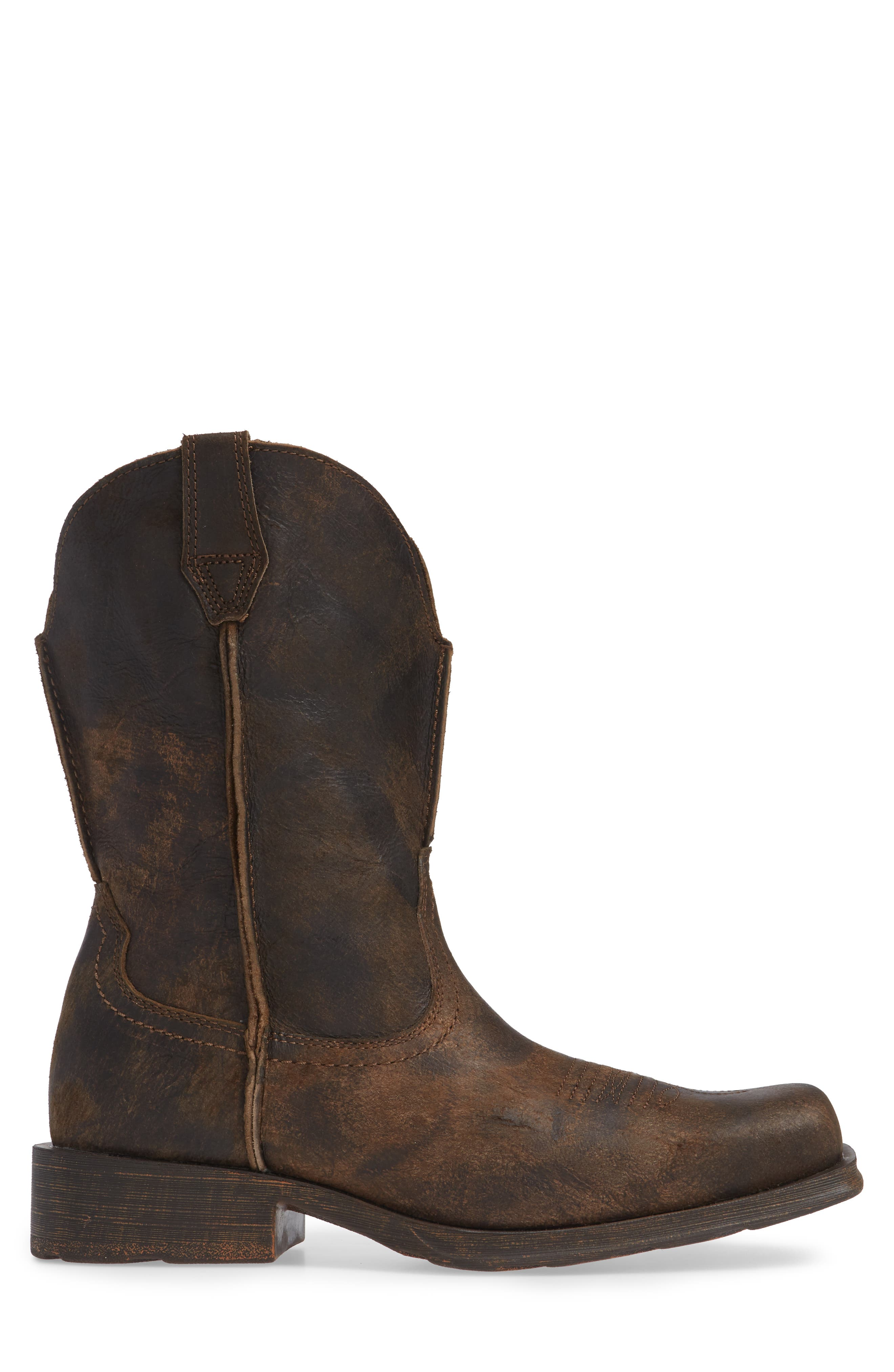 ARIAT, Rambler Boot, Alternate thumbnail 3, color, ANTIQUE GREY LEATHER