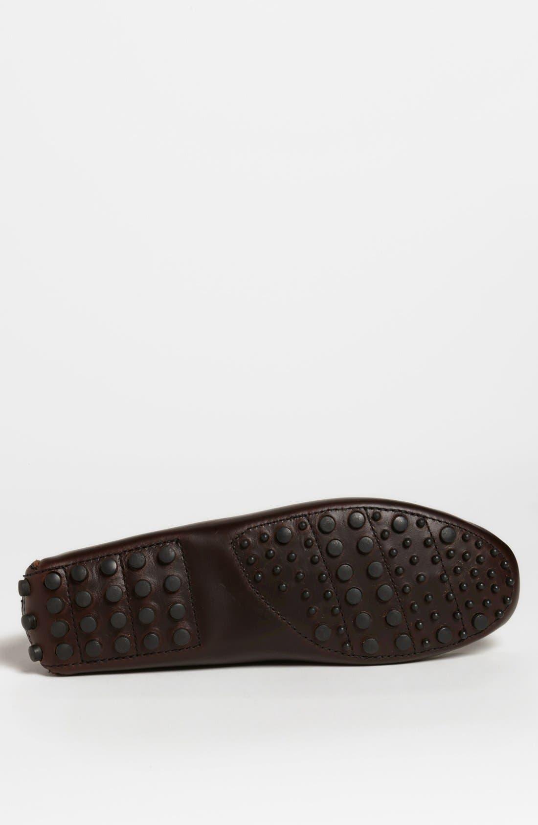MINNETONKA, Leather Driving Shoe, Alternate thumbnail 2, color, DARK BROWN LARIAT