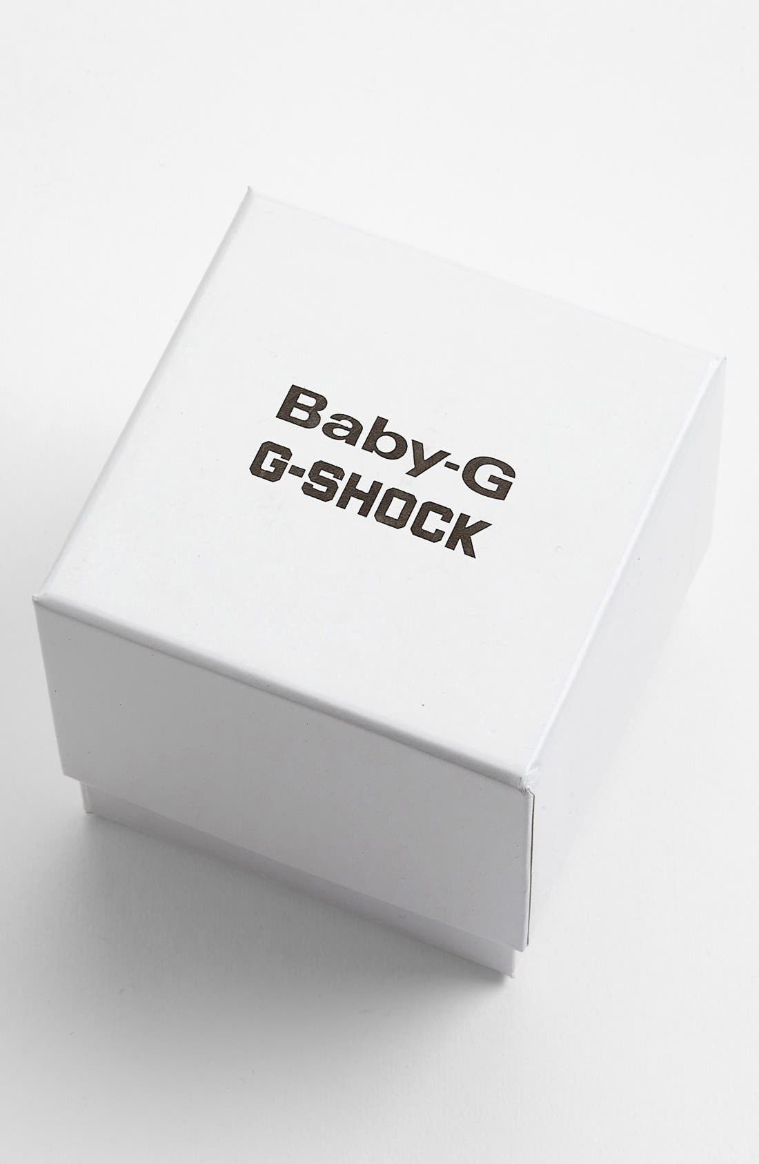 G-SHOCK BABY-G, G-Shock 'Super Luminosity' Digital Watch, 48mm, Alternate thumbnail 4, color, BLACK