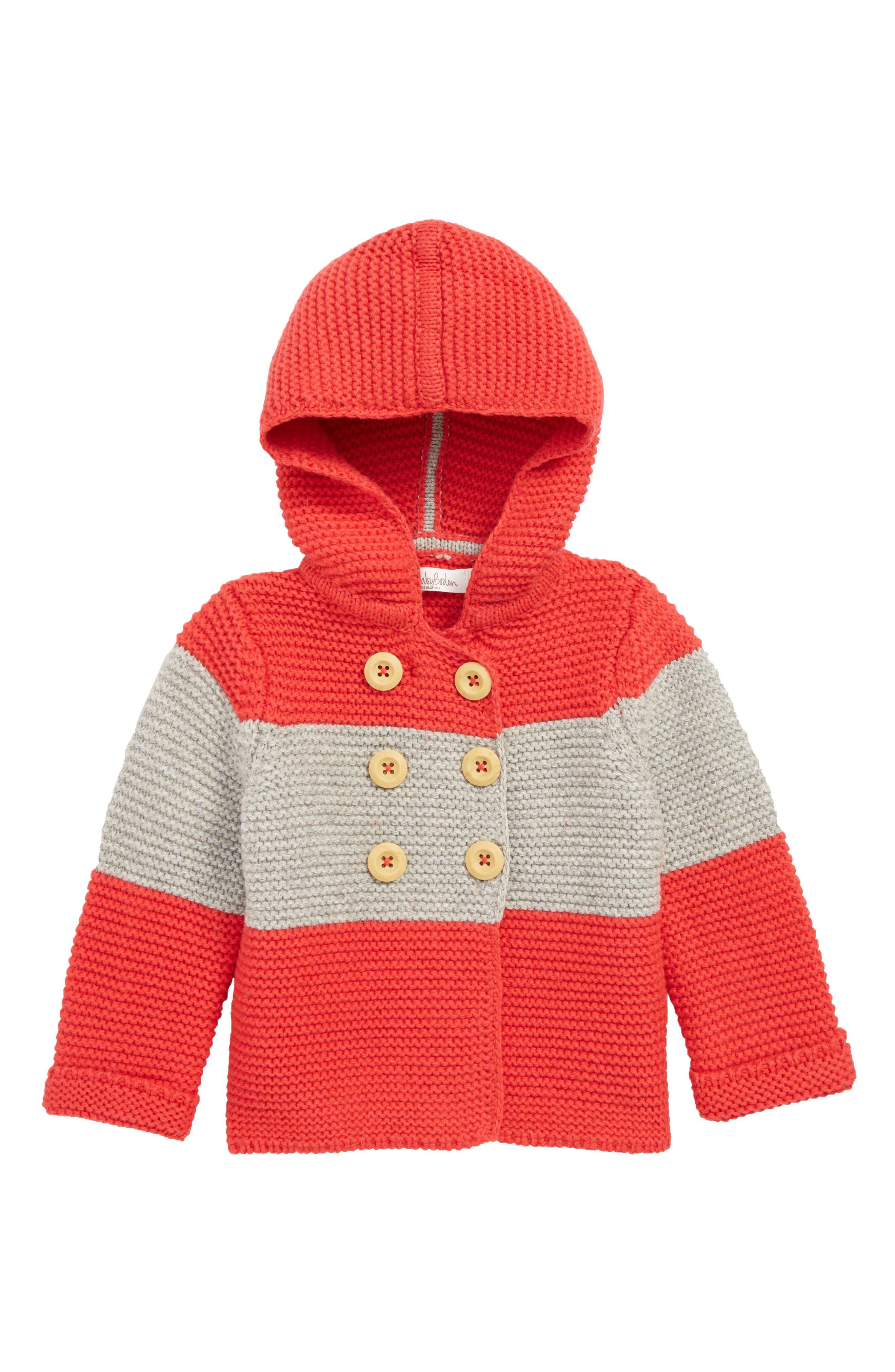 MINI BODEN Colorblock Knit Jacket, Main, color, 614