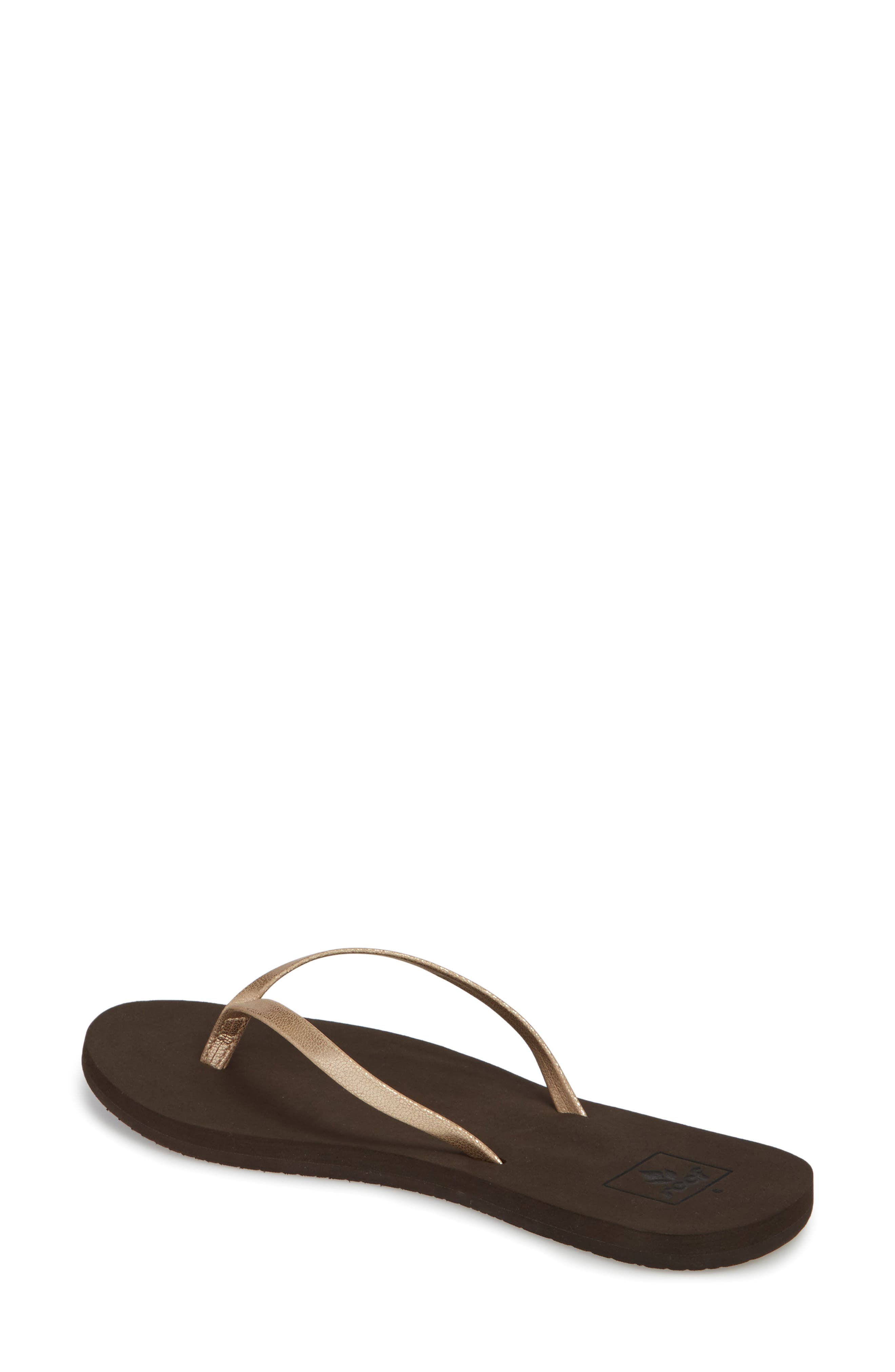 REEF, Bliss Nights Flip Flop, Alternate thumbnail 2, color, ROSE GOLD