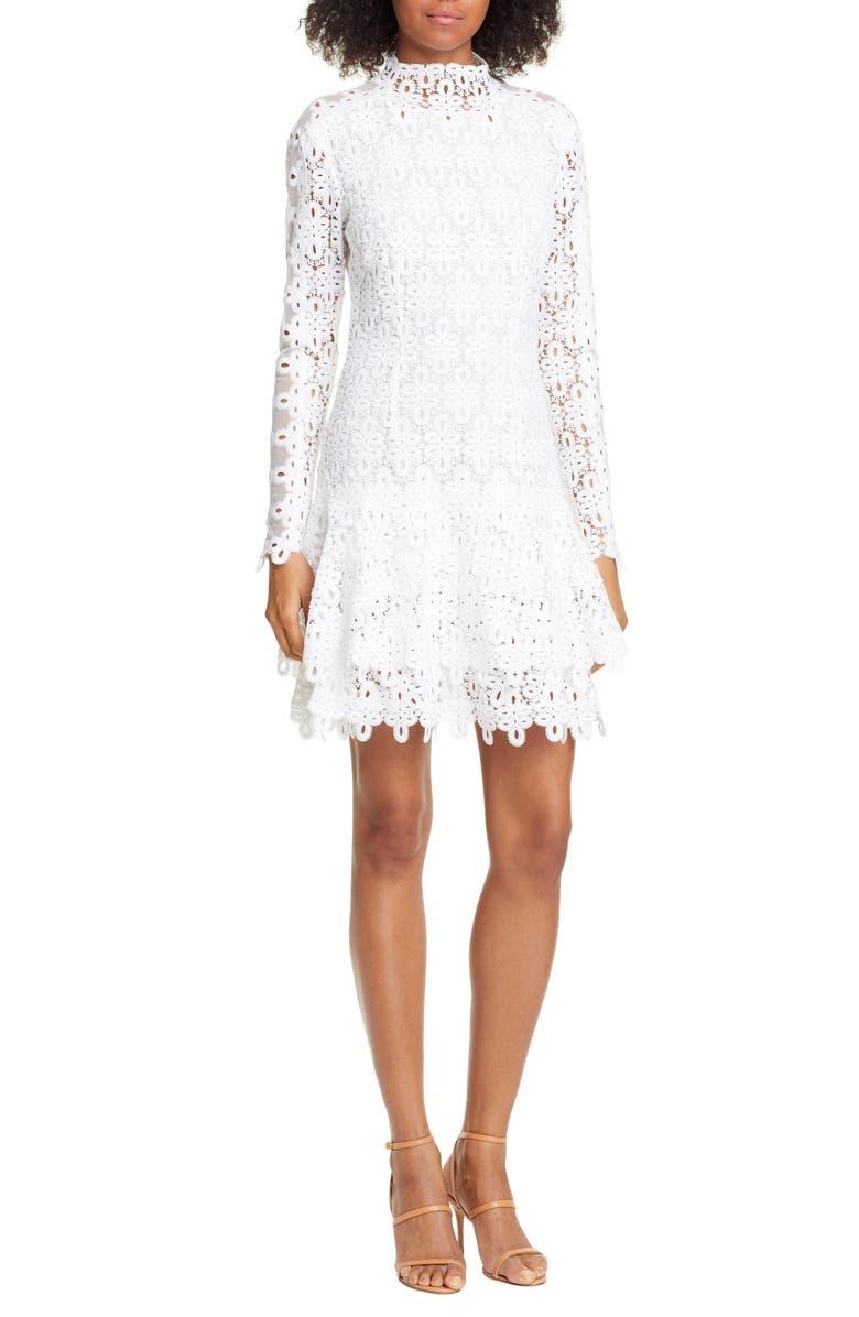 Jonathan Simkhai Dresses Long Sleeve Guipure Lace Minidress
