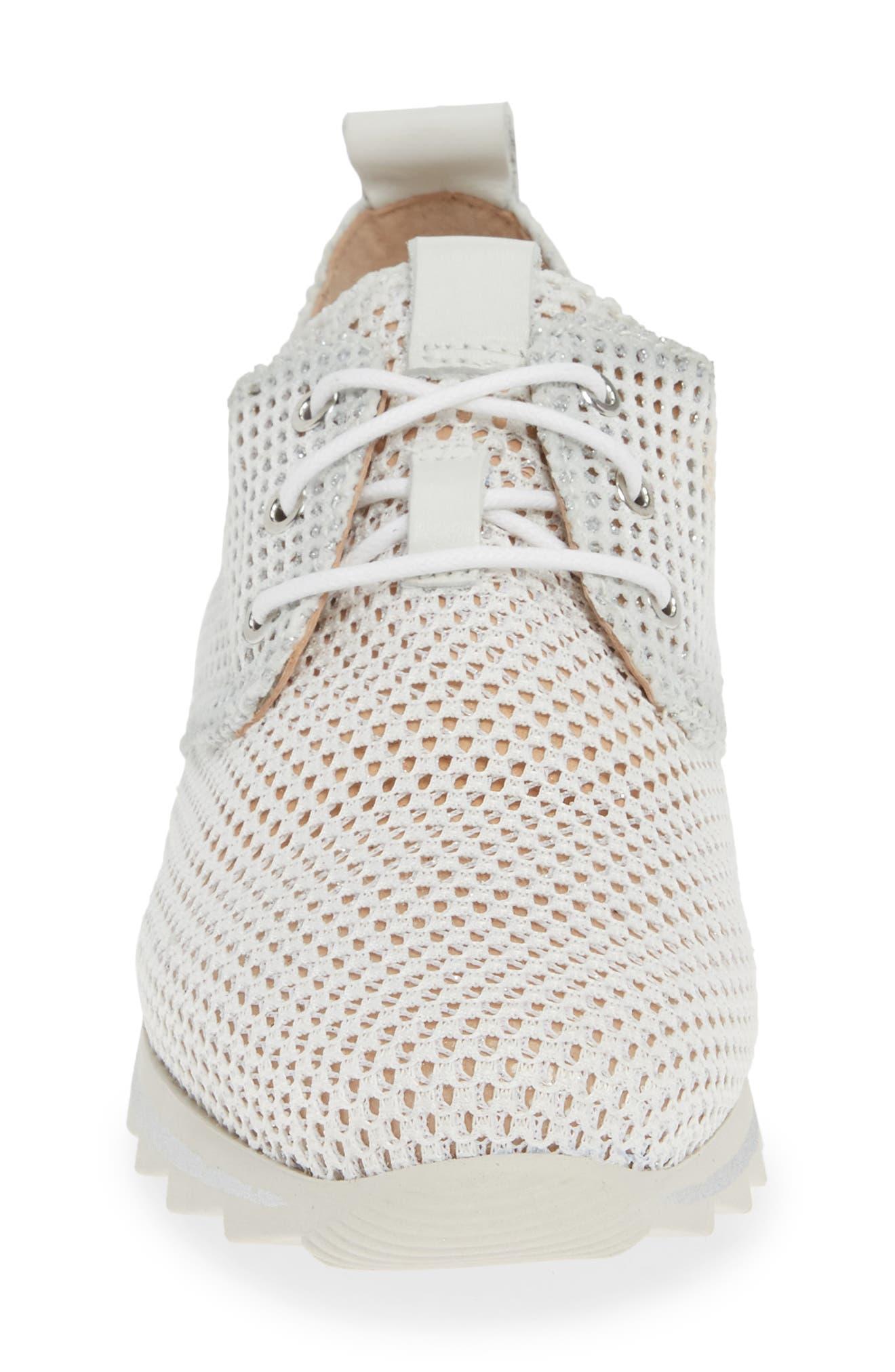 HISPANITAS, Babe Mesh Sneaker, Alternate thumbnail 4, color, ROBERTA BLANCO LEATHER